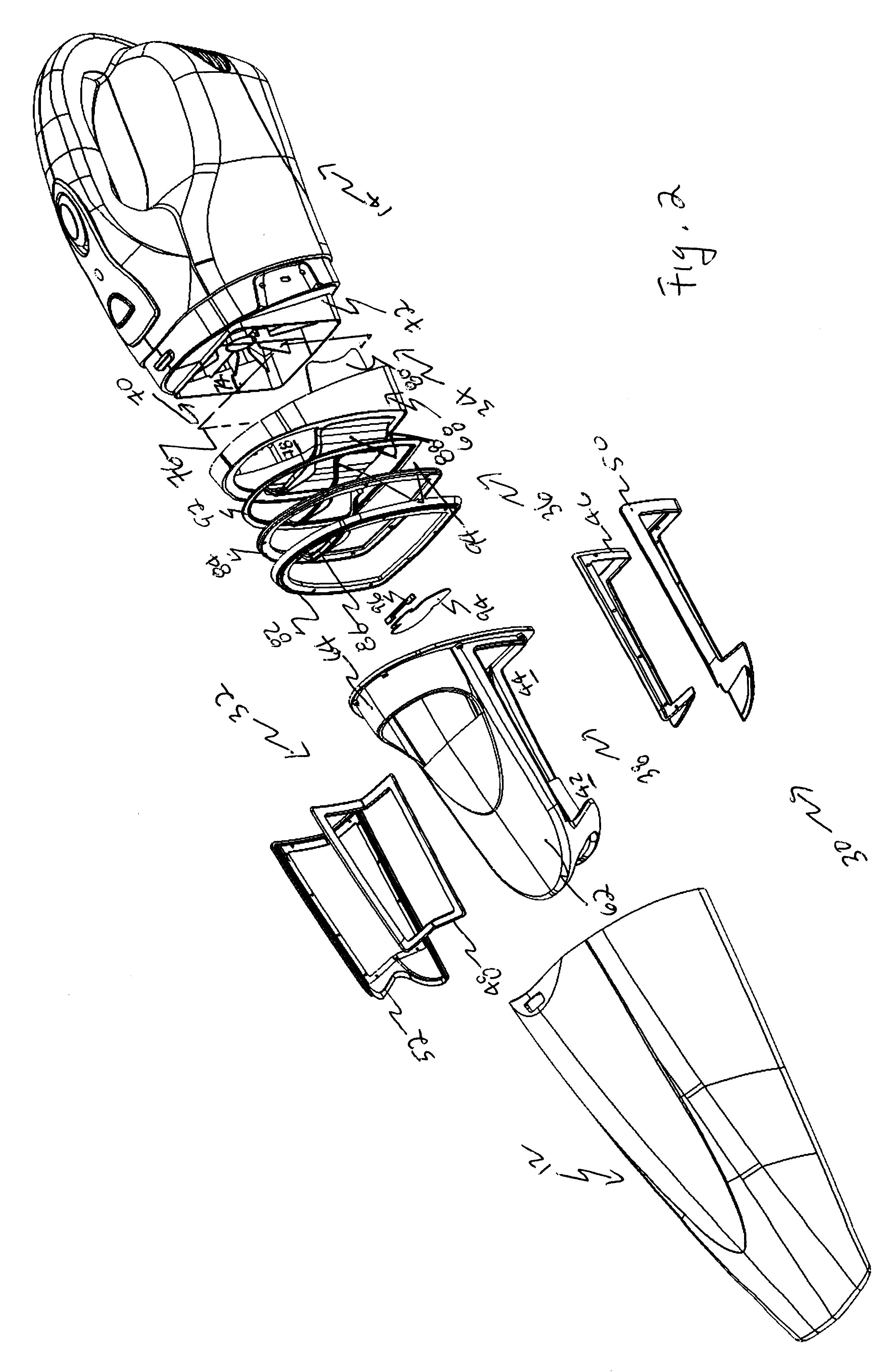 Patent Us6434785 Dual Filter Wet Dry Hand Held Vacuum
