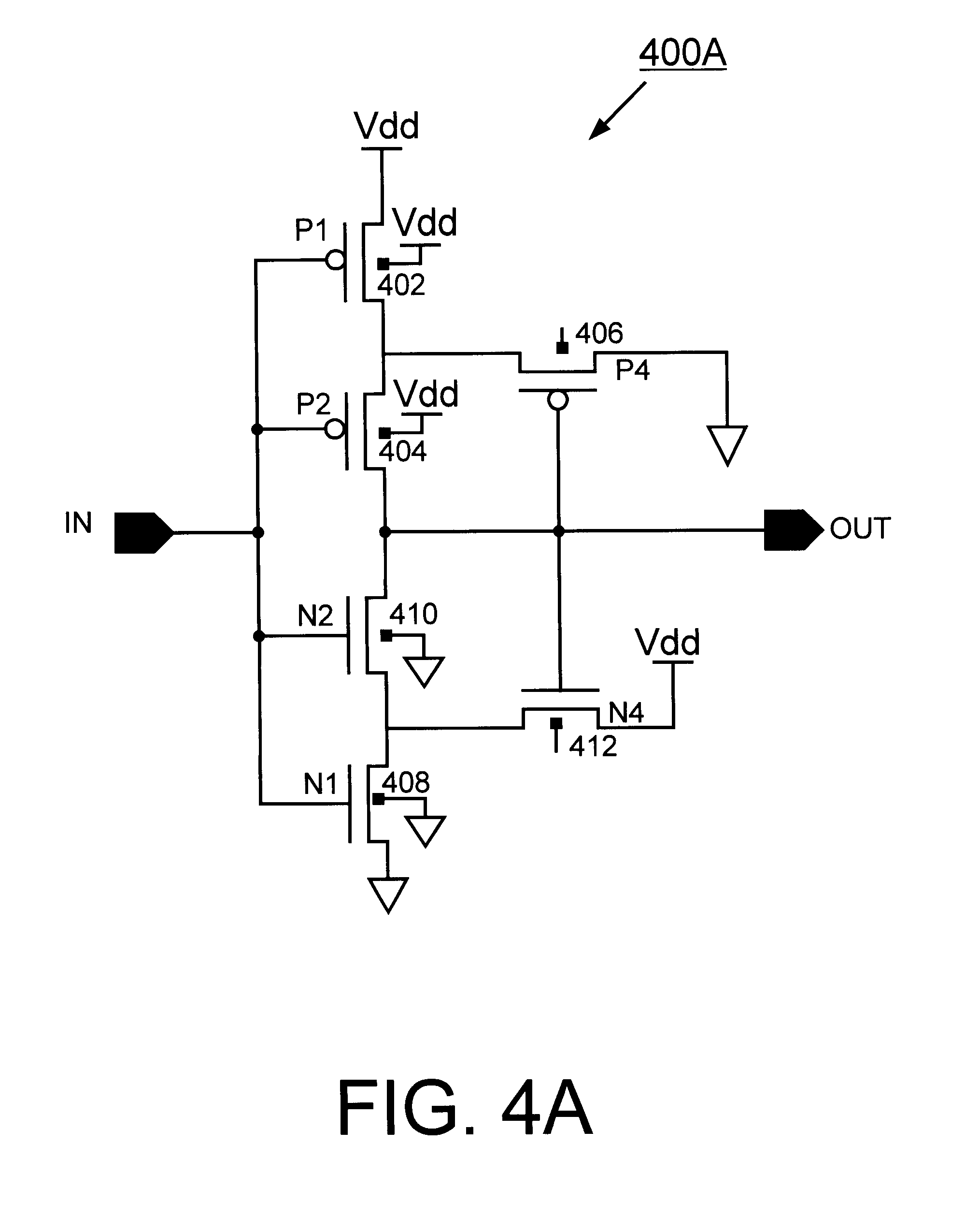 patent us6441663 - soi cmos schmitt trigger circuits with controllable hysteresis