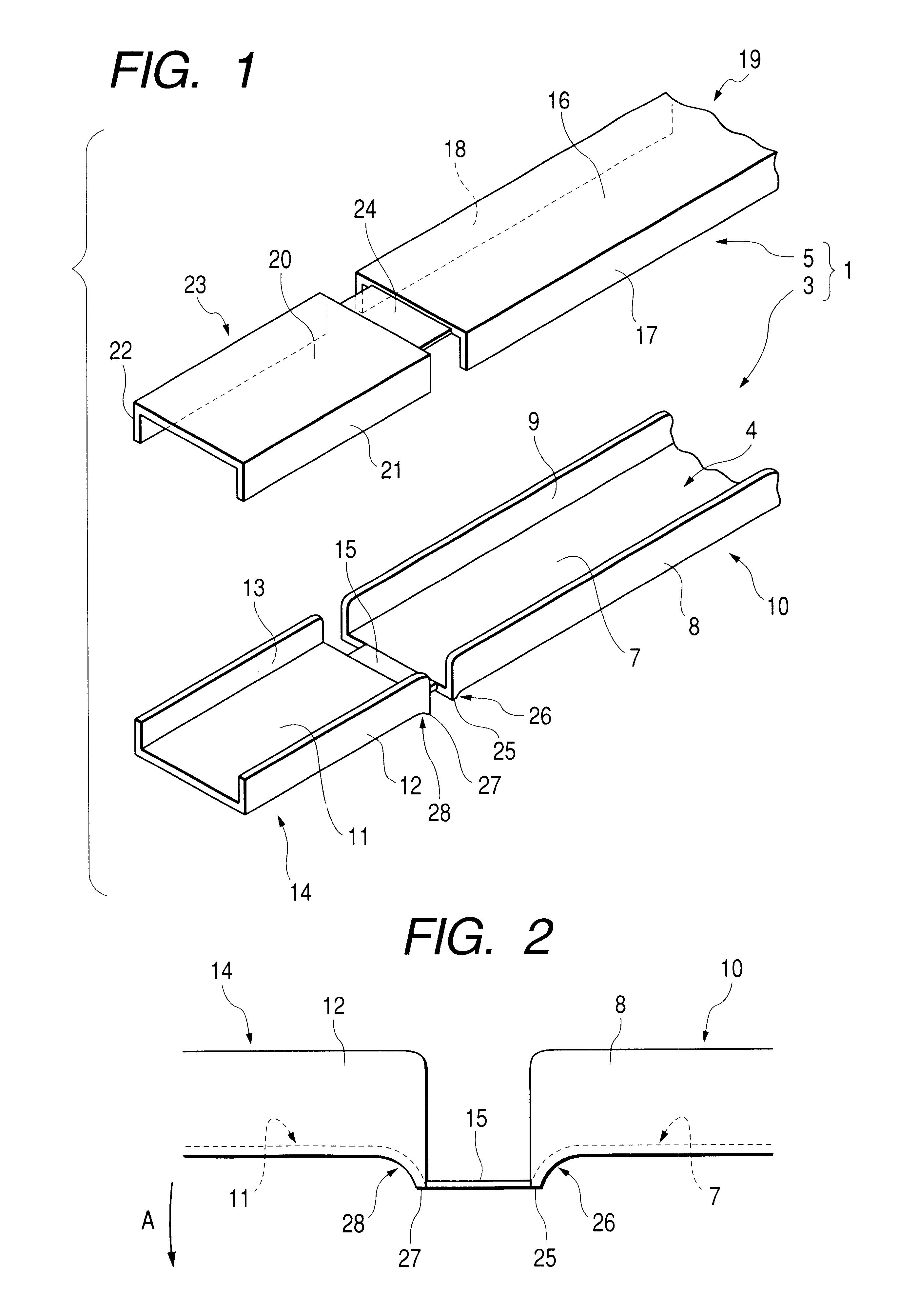 patent us6444903 - hinge structure