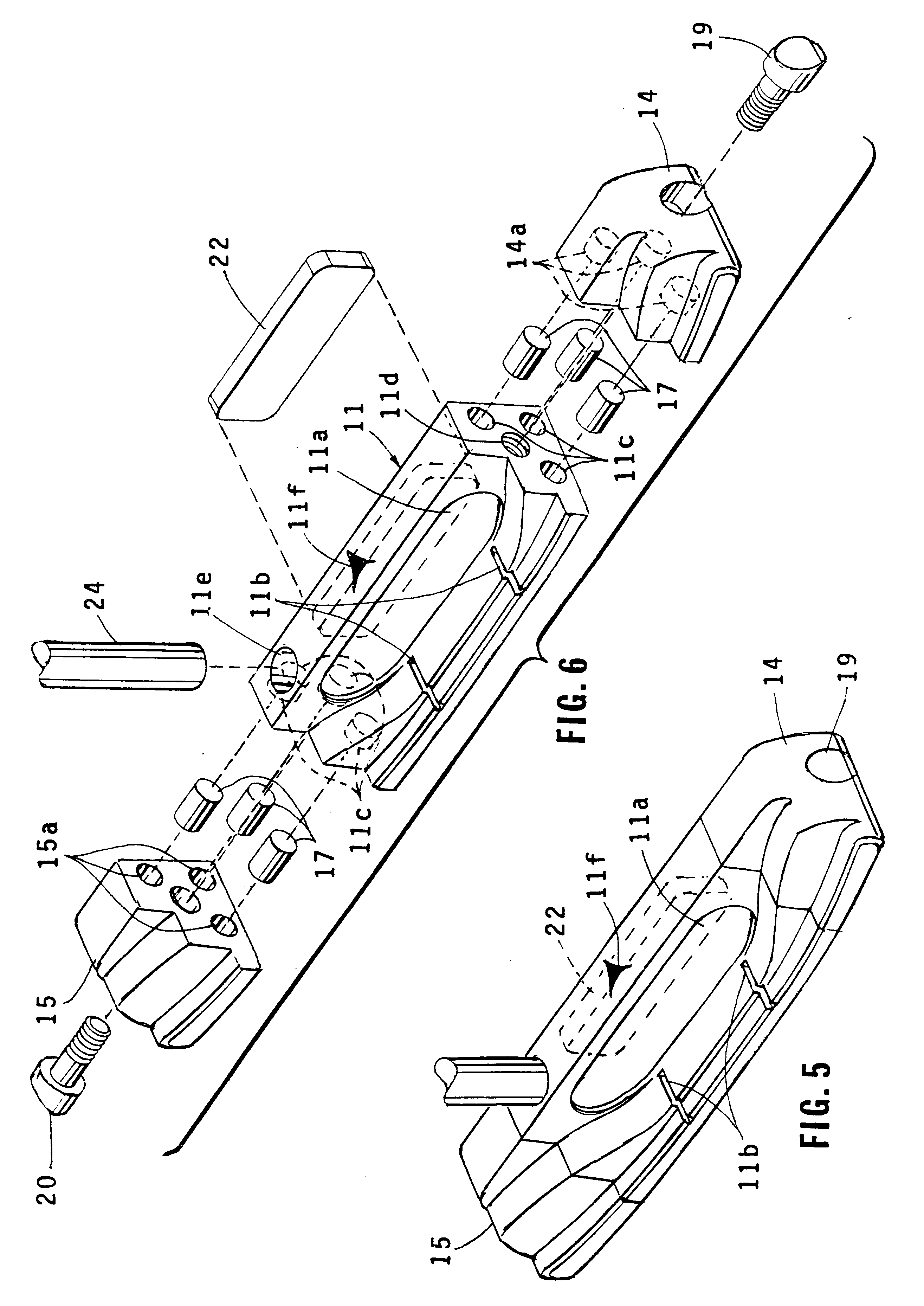 patent us6450894 golf putter head with weighted toe and heel Outline of Heel patent drawing