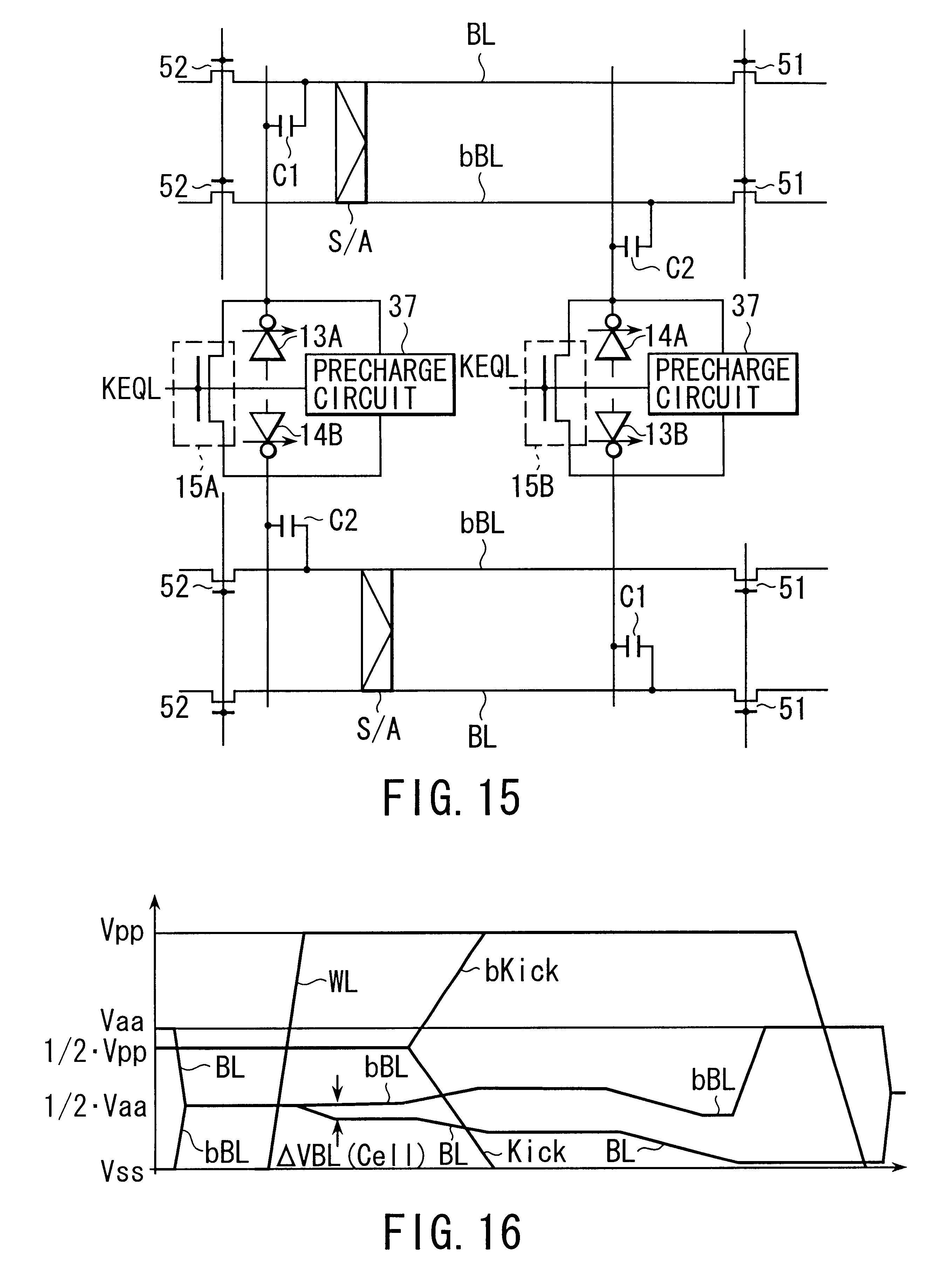 Patent Us6452833 Semiconductor Memory Device Google Patentsuche Sap 1 Circuit Diagram Drawing
