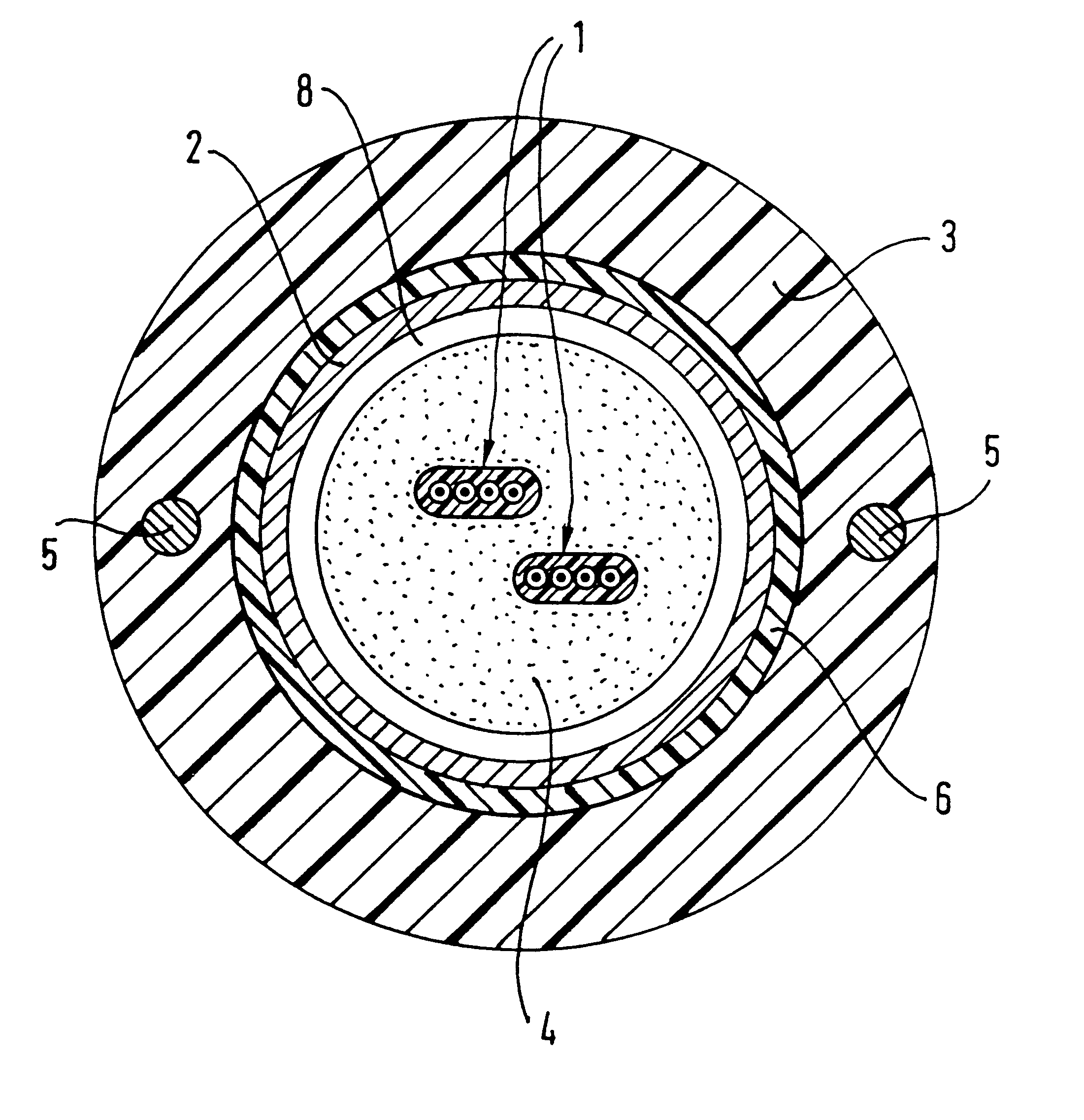 patent us6453098 - reinforced optical fiber cable of unitube structure