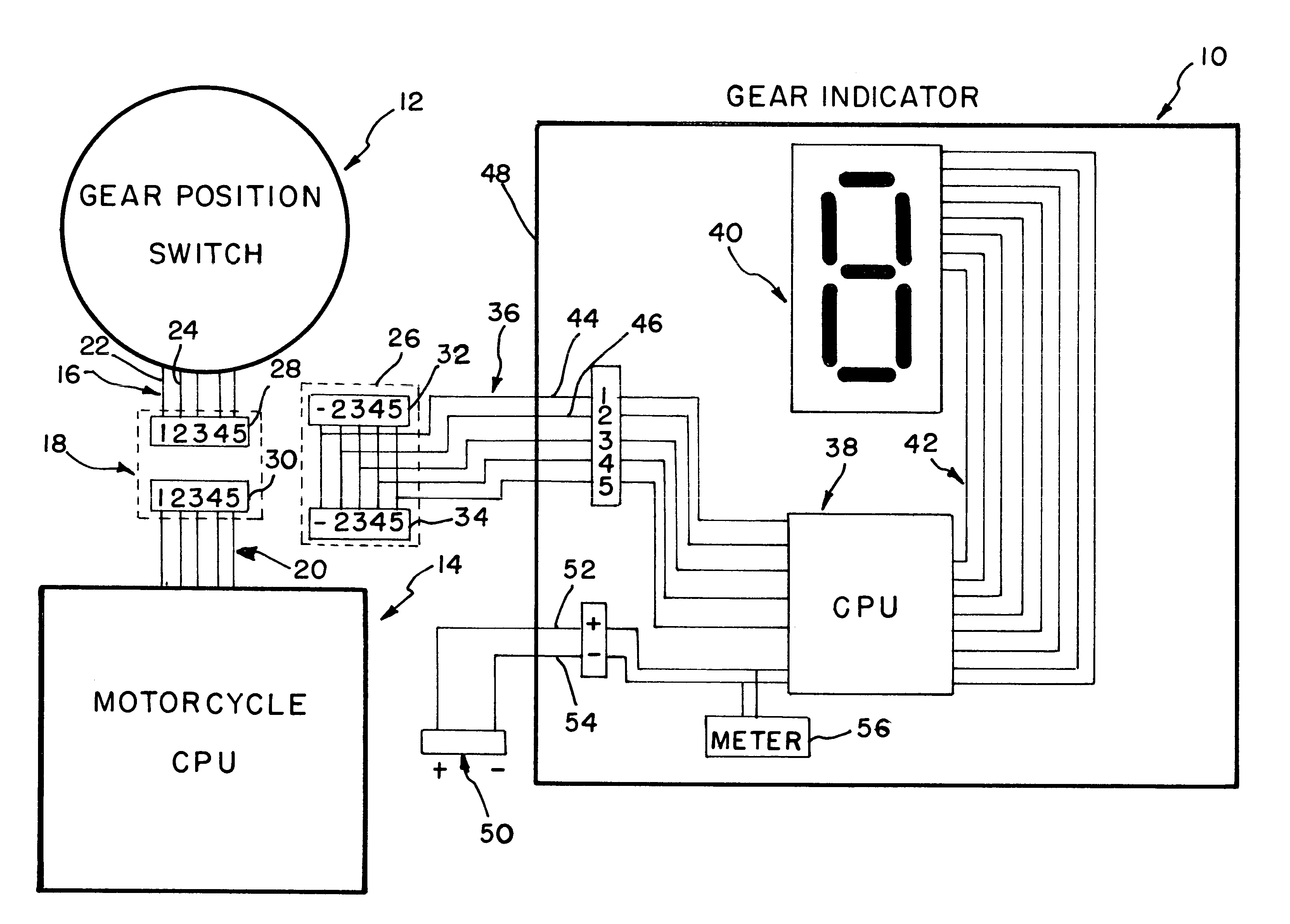 Patent Us6462651 - Gear Indicator