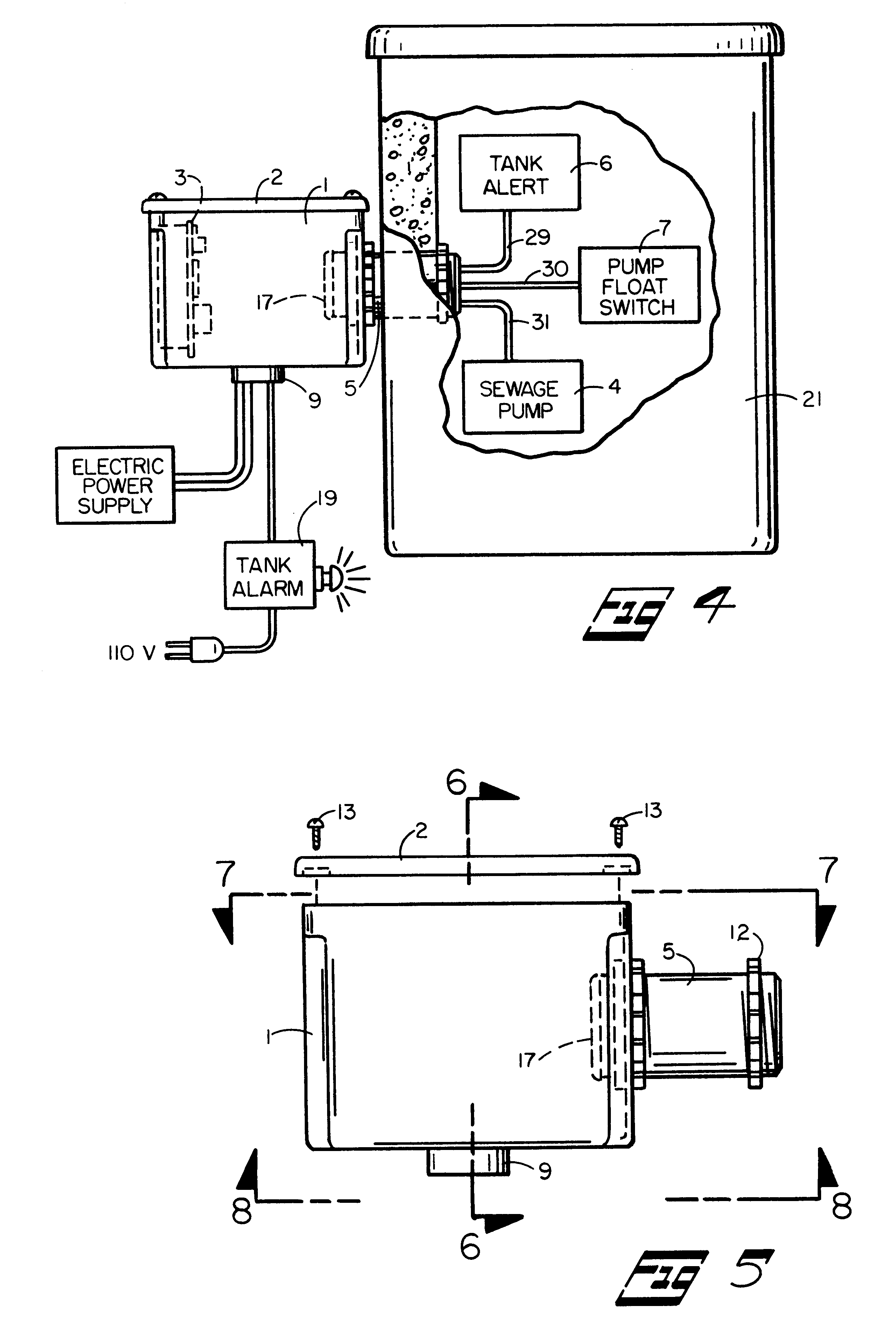 Septic Pump Wiring Diagram : Patent us housing and electric connection panel