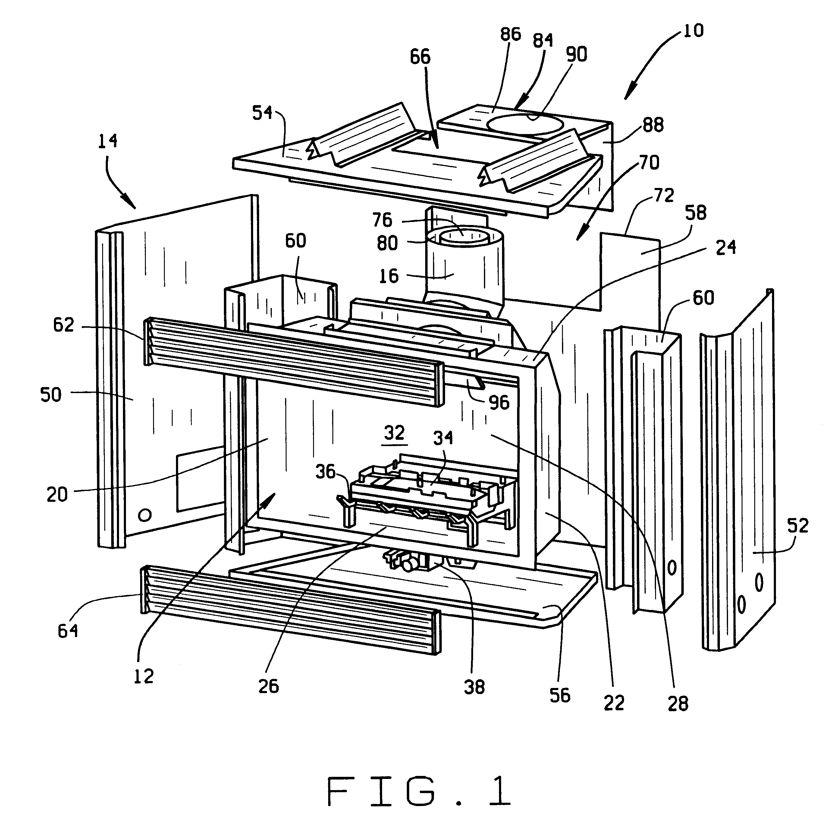 Patent US6463926 Direct Vent Fireplace With Baffled