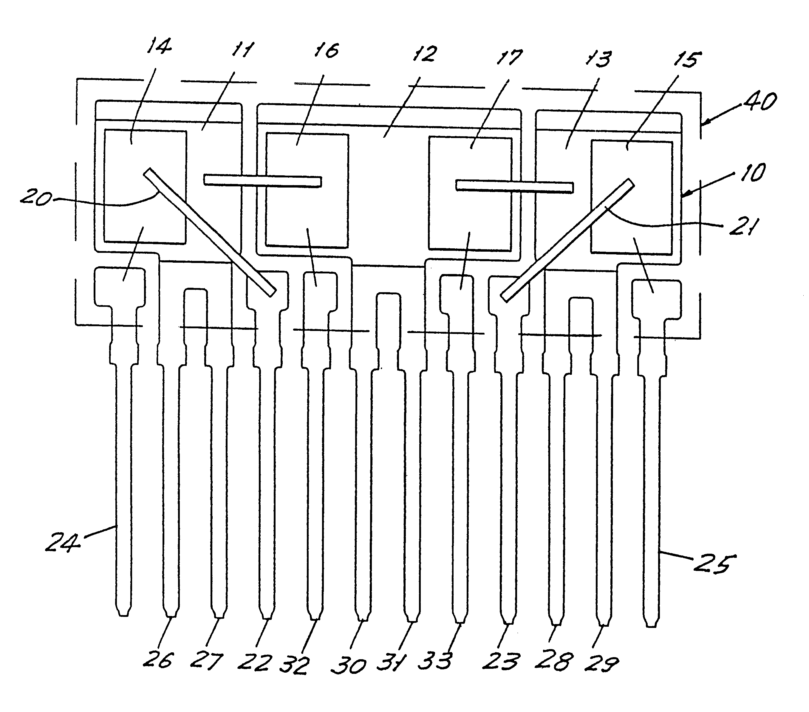 Patent US6465875 - Semiconductor device package with plural pad lead ...