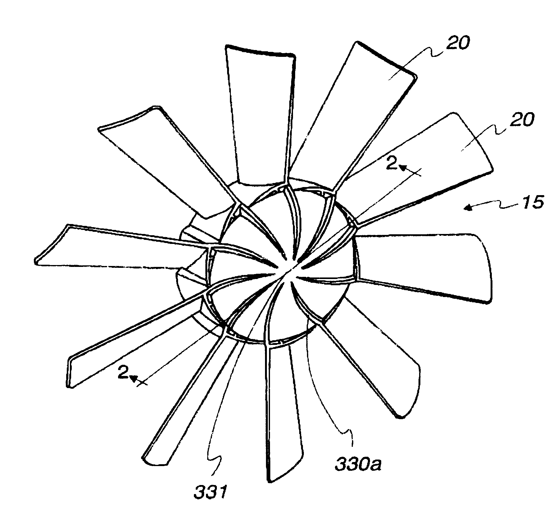 Fan Blade Drawing : Patent us fan clutch with central vanes to move