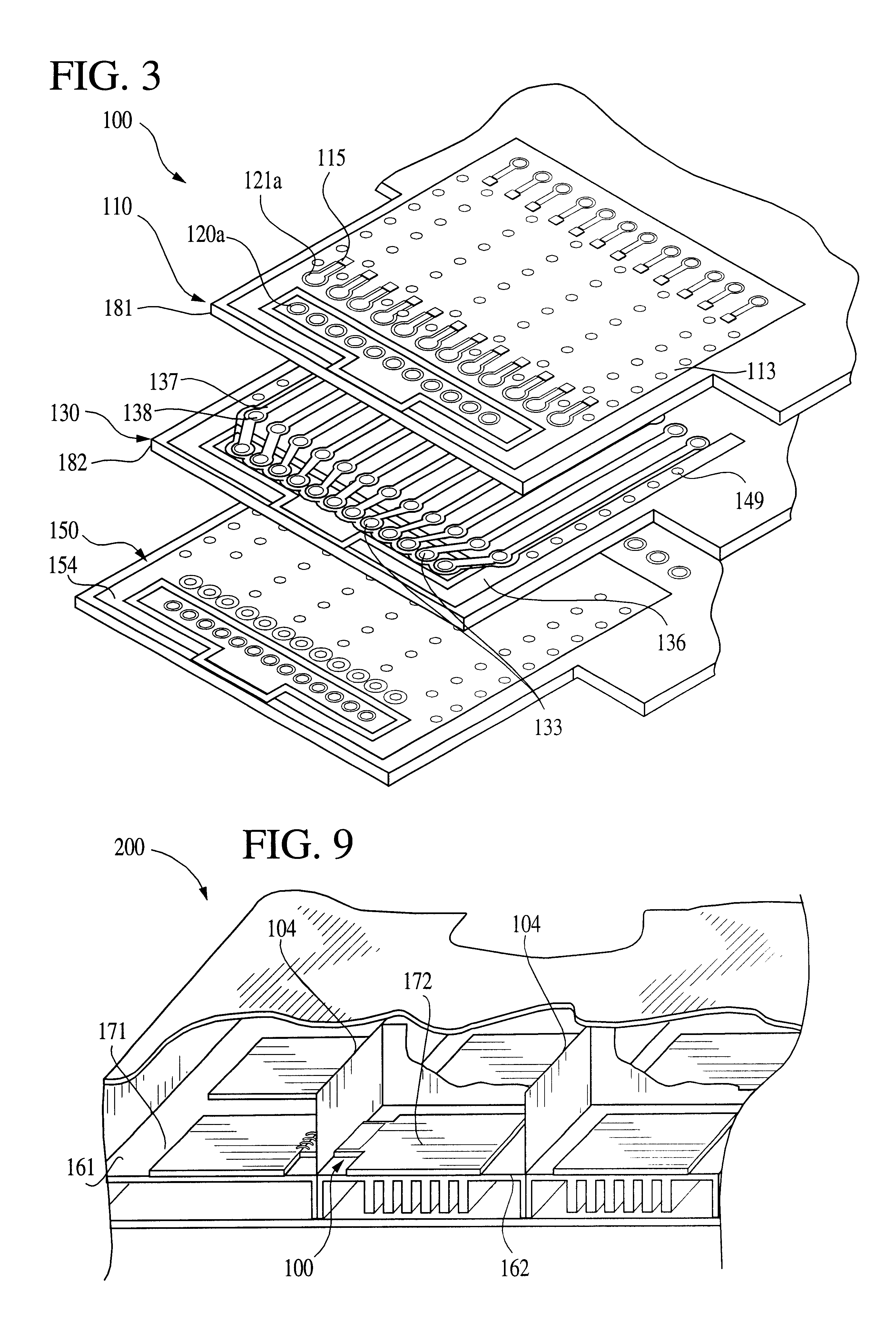 patent us6473314 - rf power amplifier assembly employing multi-layer rf blocking filter