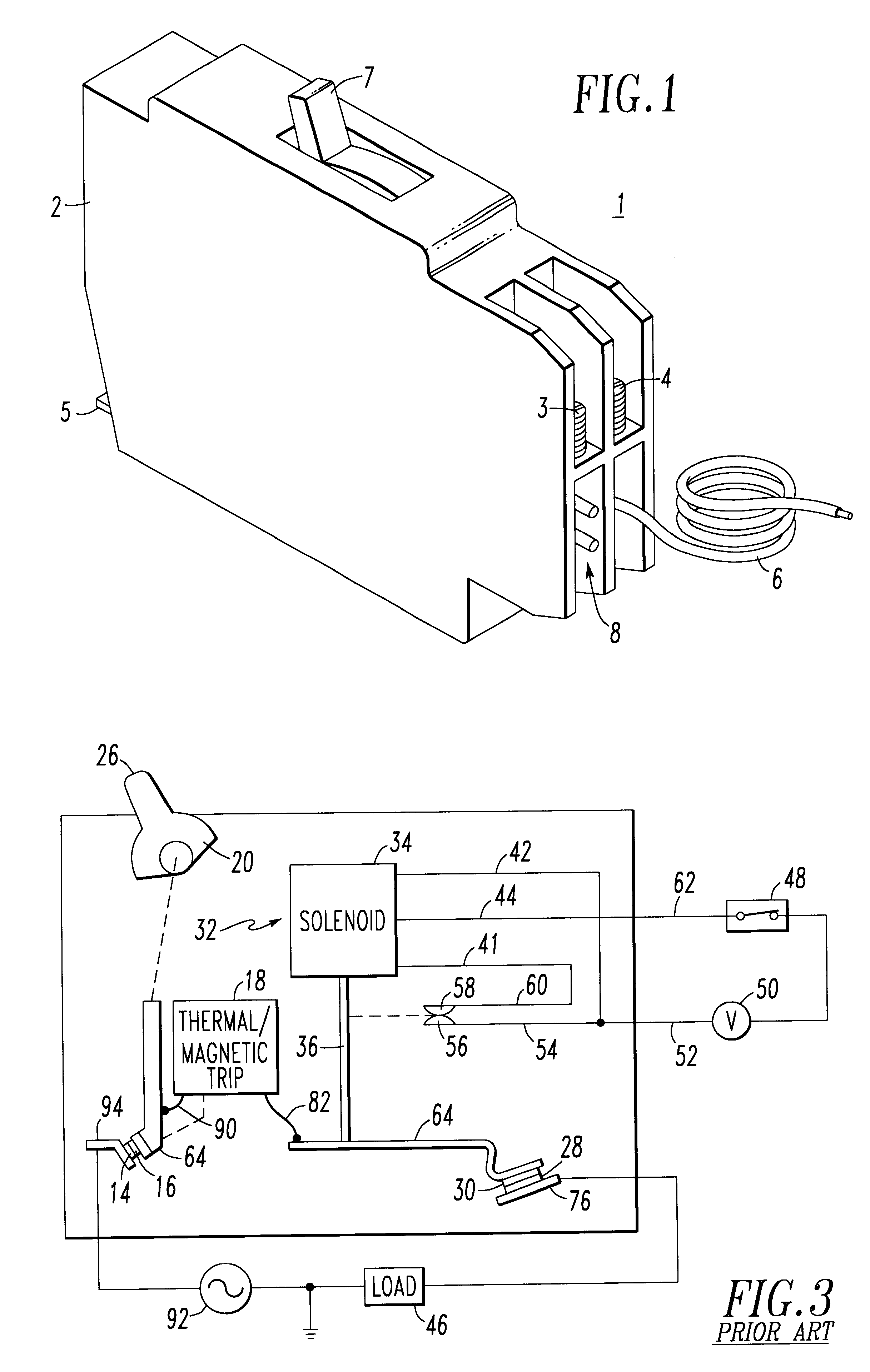 Patent Us6477022 Ground Fault Of Arc Fault Circuit