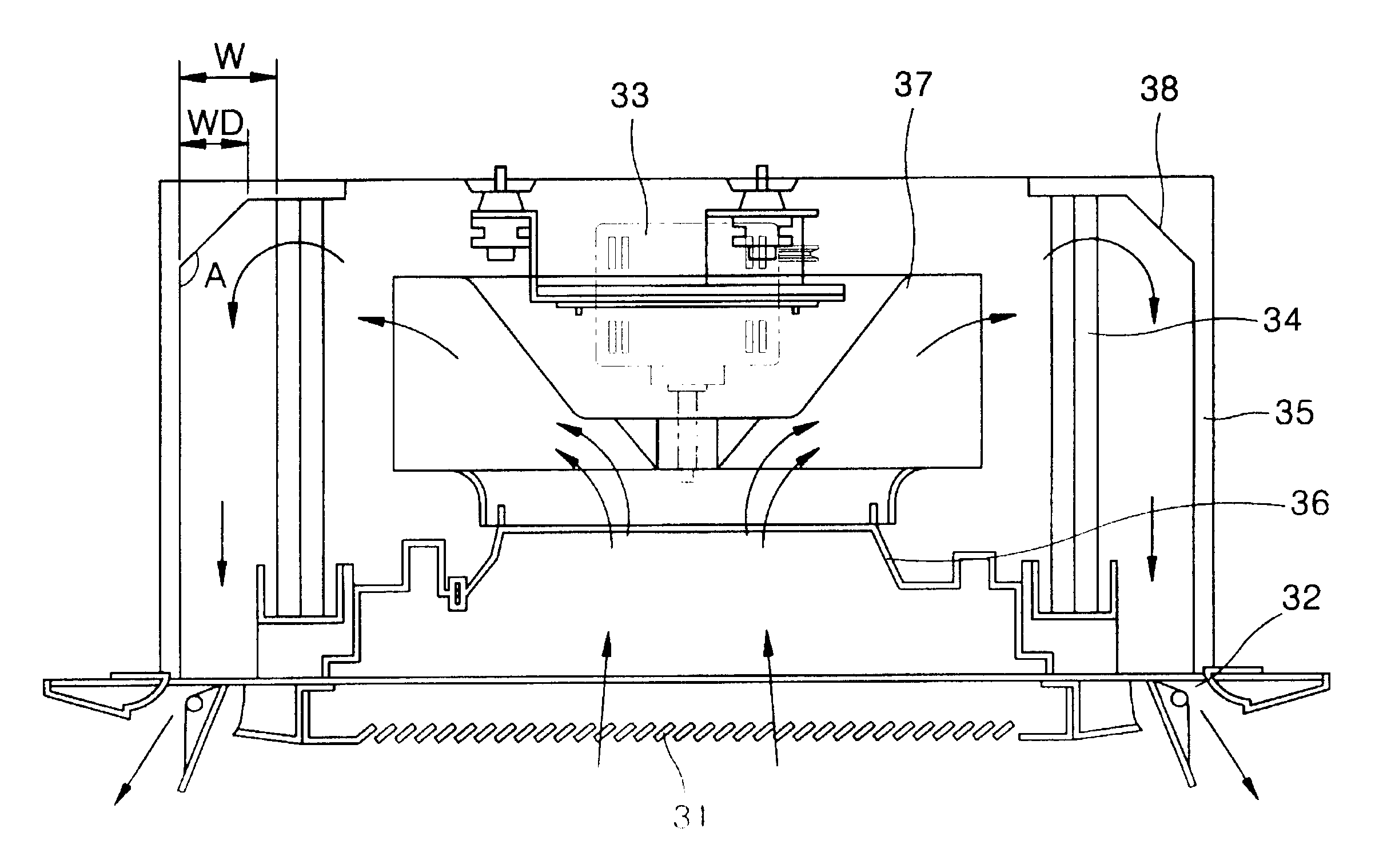 Patent Us6481237 Ceiling Embedded Cassette Type Air