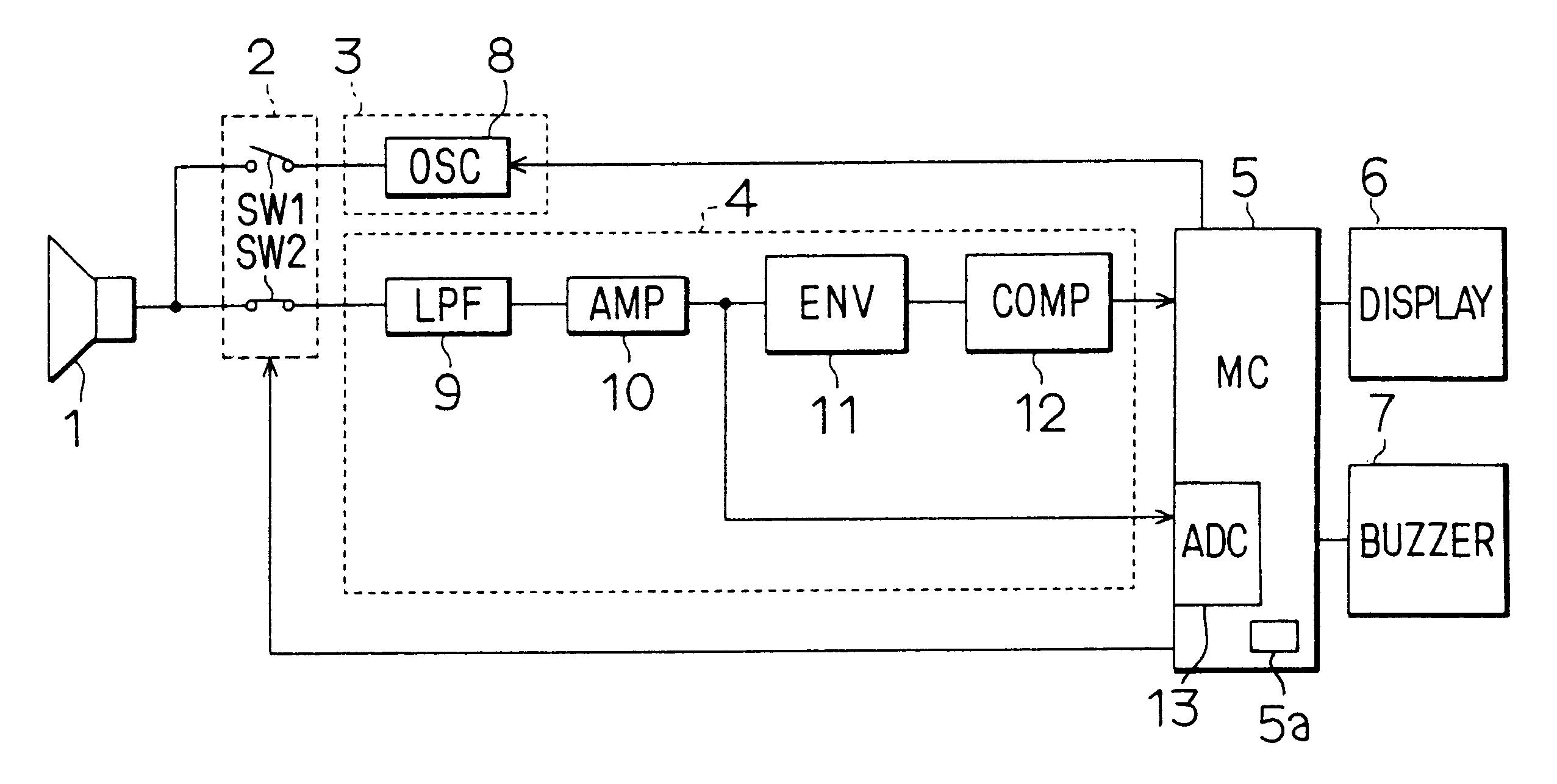 Patent Us6490226 Ultrasonic Sonar And Method Using Transmission 40khz Second Transmitting Circuit The Transistors Drawing