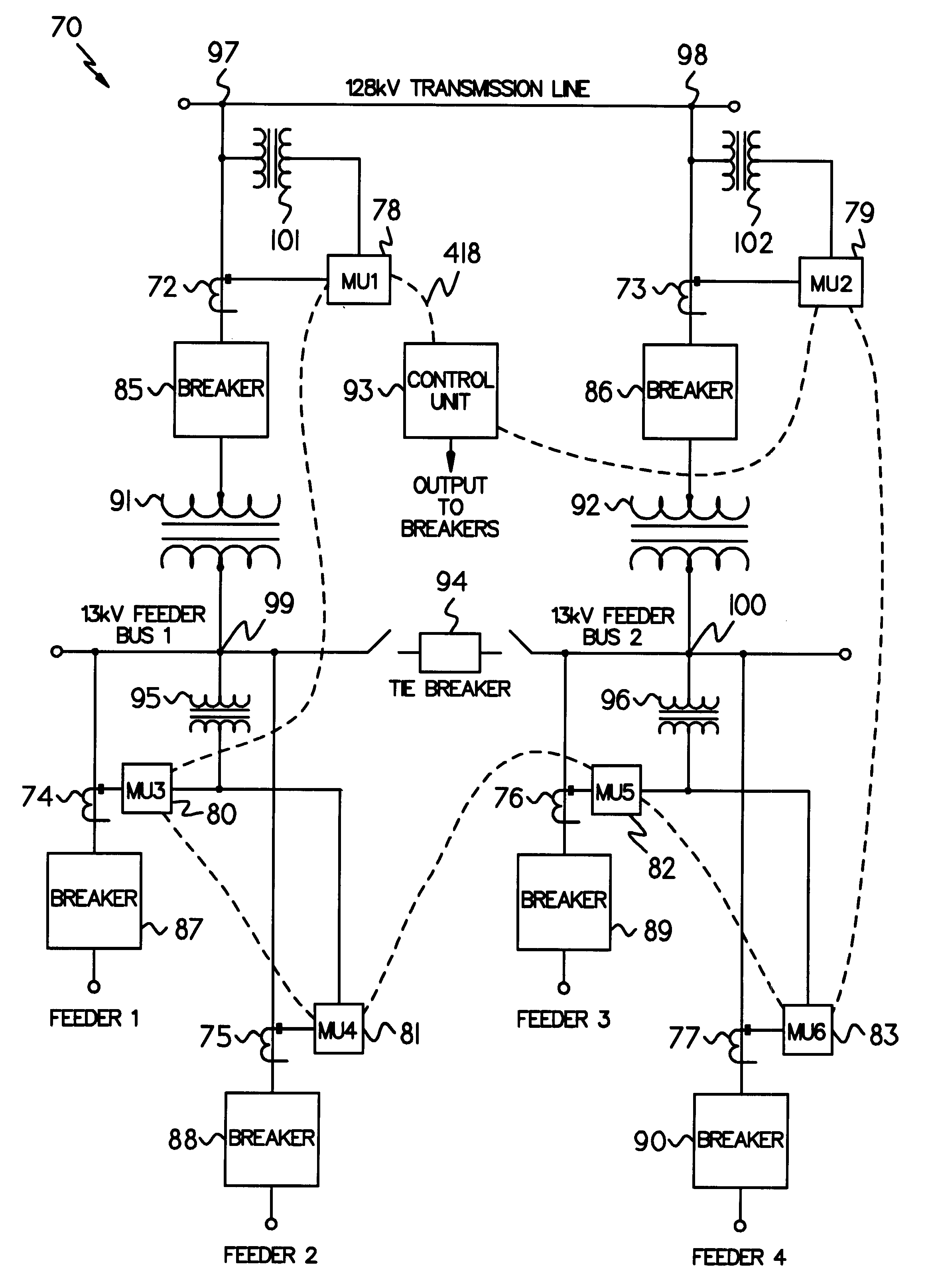 patent us6496342 distributed monitoring and protection system for Terminal Block Diagram patent drawing