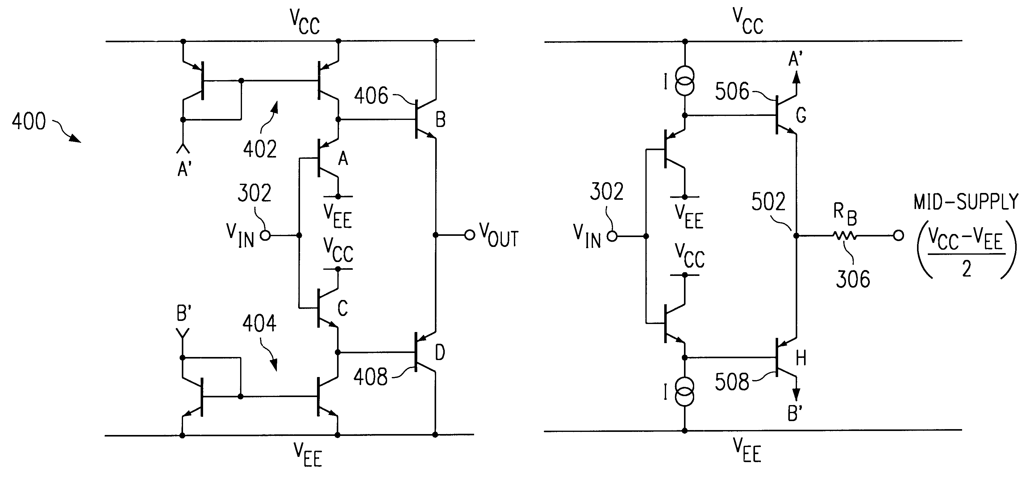 Mosfet Class Ab Amplifier Frequency Response Power Circuit Diagrams Diagram And Patent Us6501334 Actively Biased Output Stage