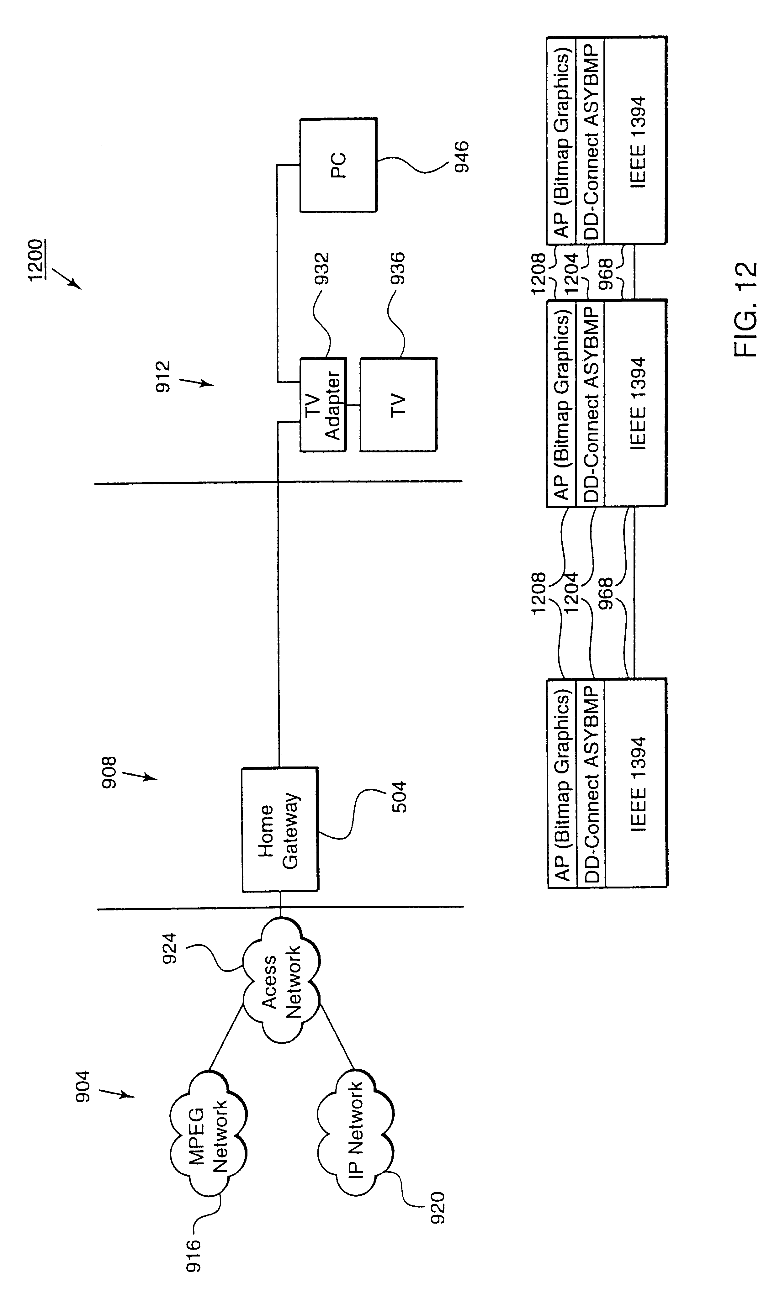 Patent Us6505255 Method For Formatting And Routing Data Between An Ieee 1394 Wiring Diagram Drawing