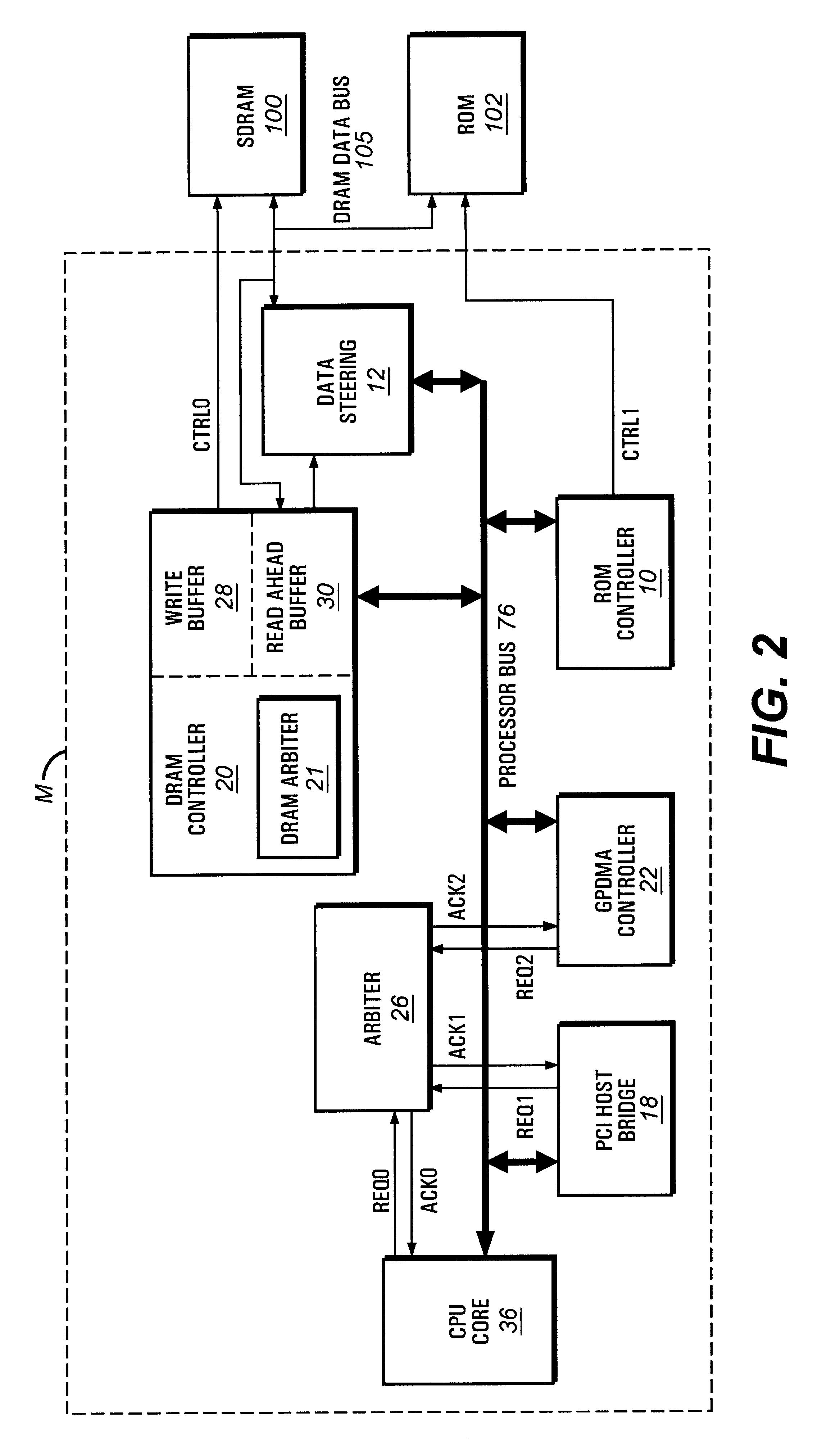 patent us6513094  dram data bus sharing with write