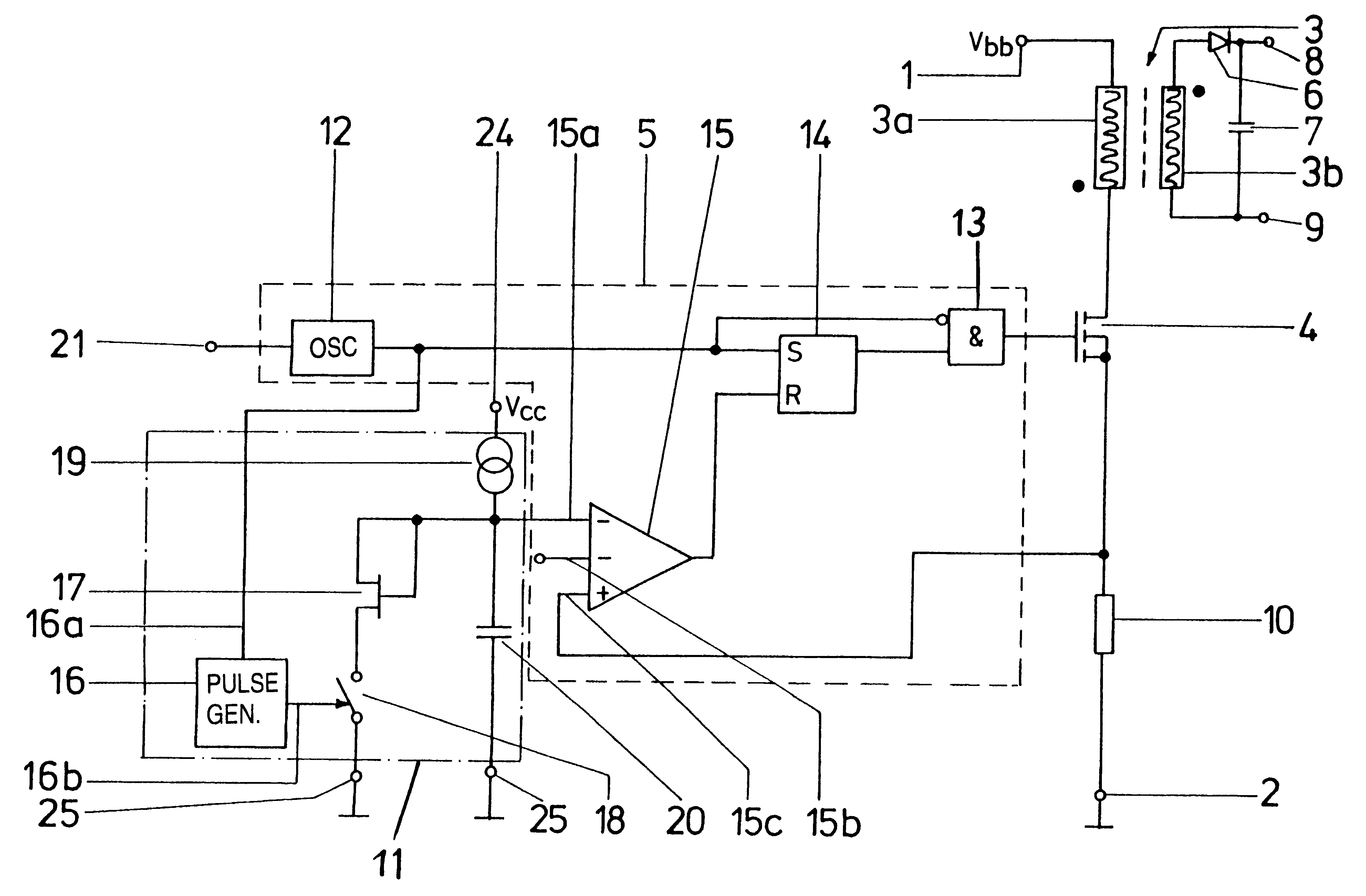 patent us6515874 - clocked power supply