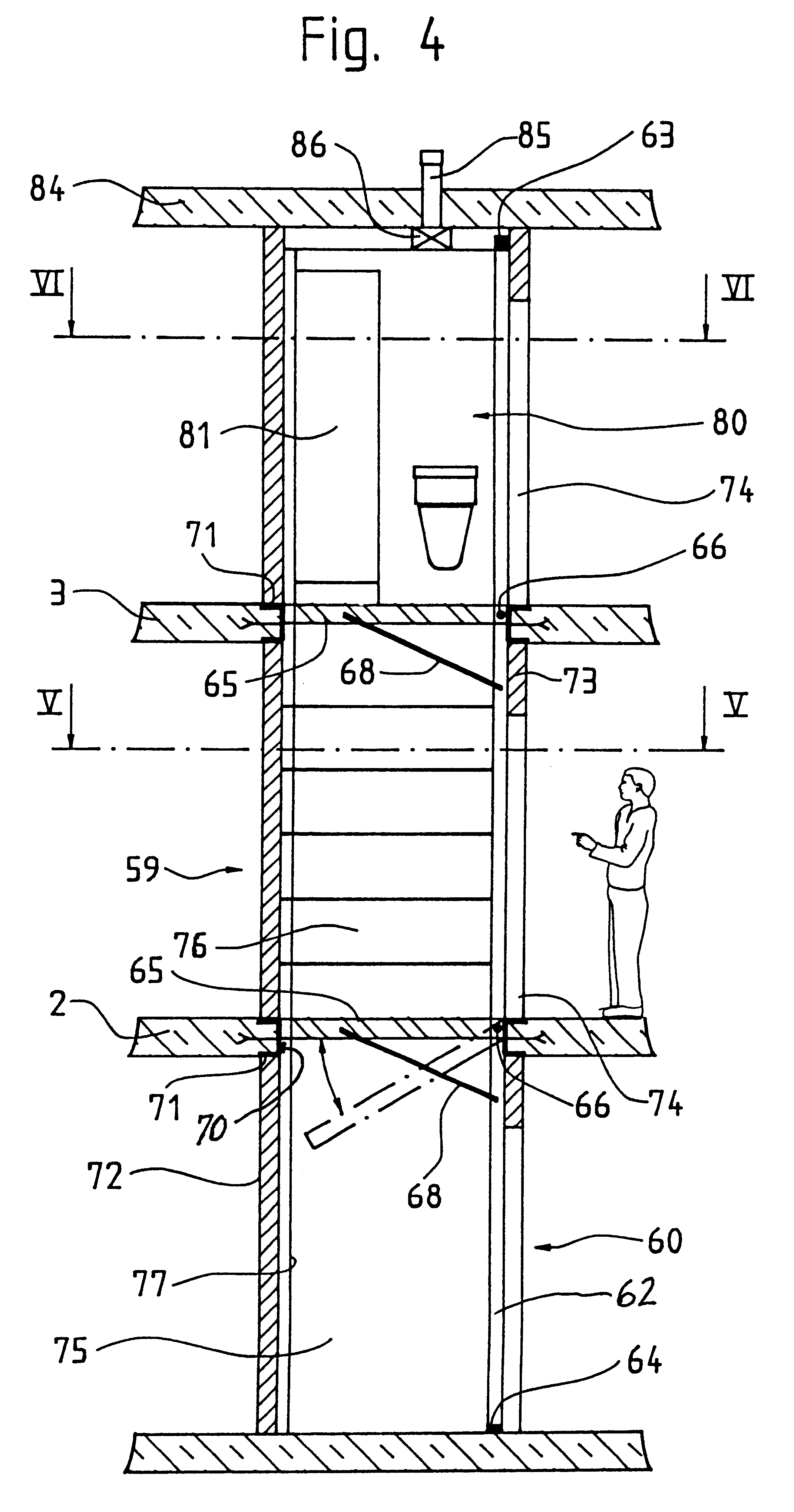 Patent Us6516570 Elevator Hoistway Google Patents