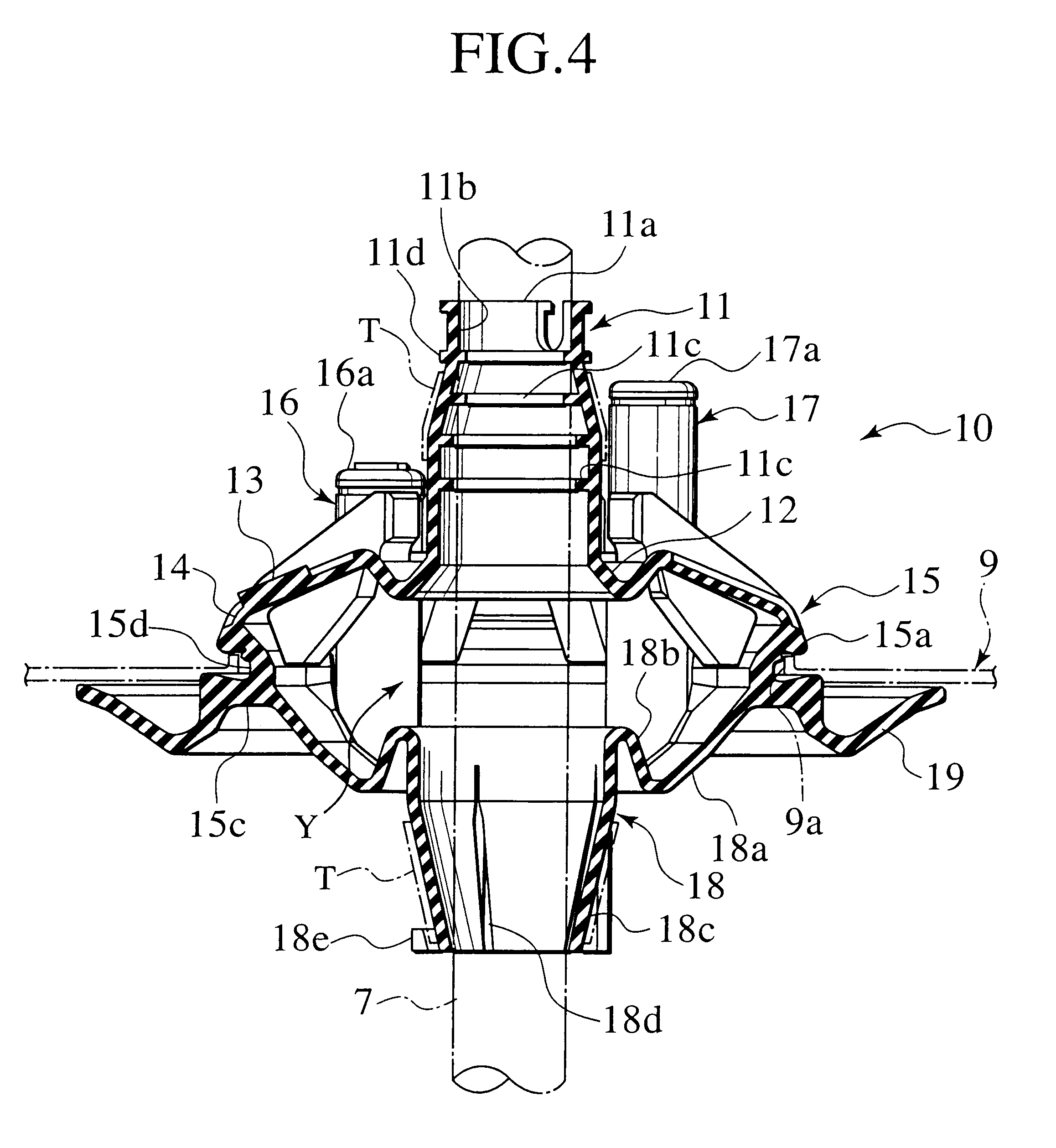 patent us6525269 - soundproof grommet for wiring harness