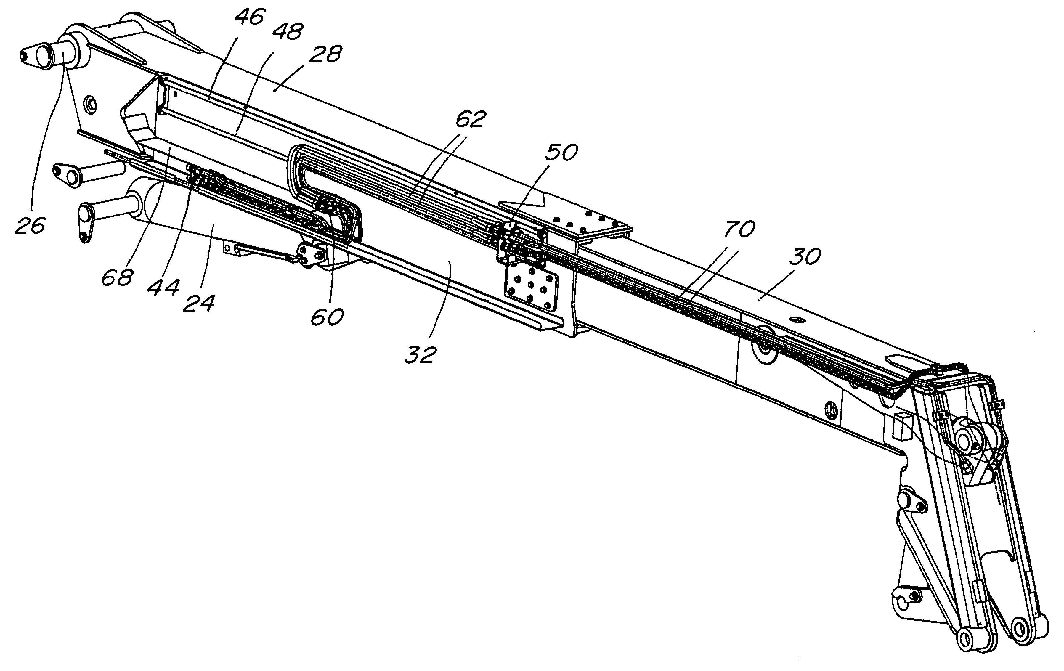 patent us6530742 - telescopic boom routing assembly for ... tire chain diagram boom chain diagram