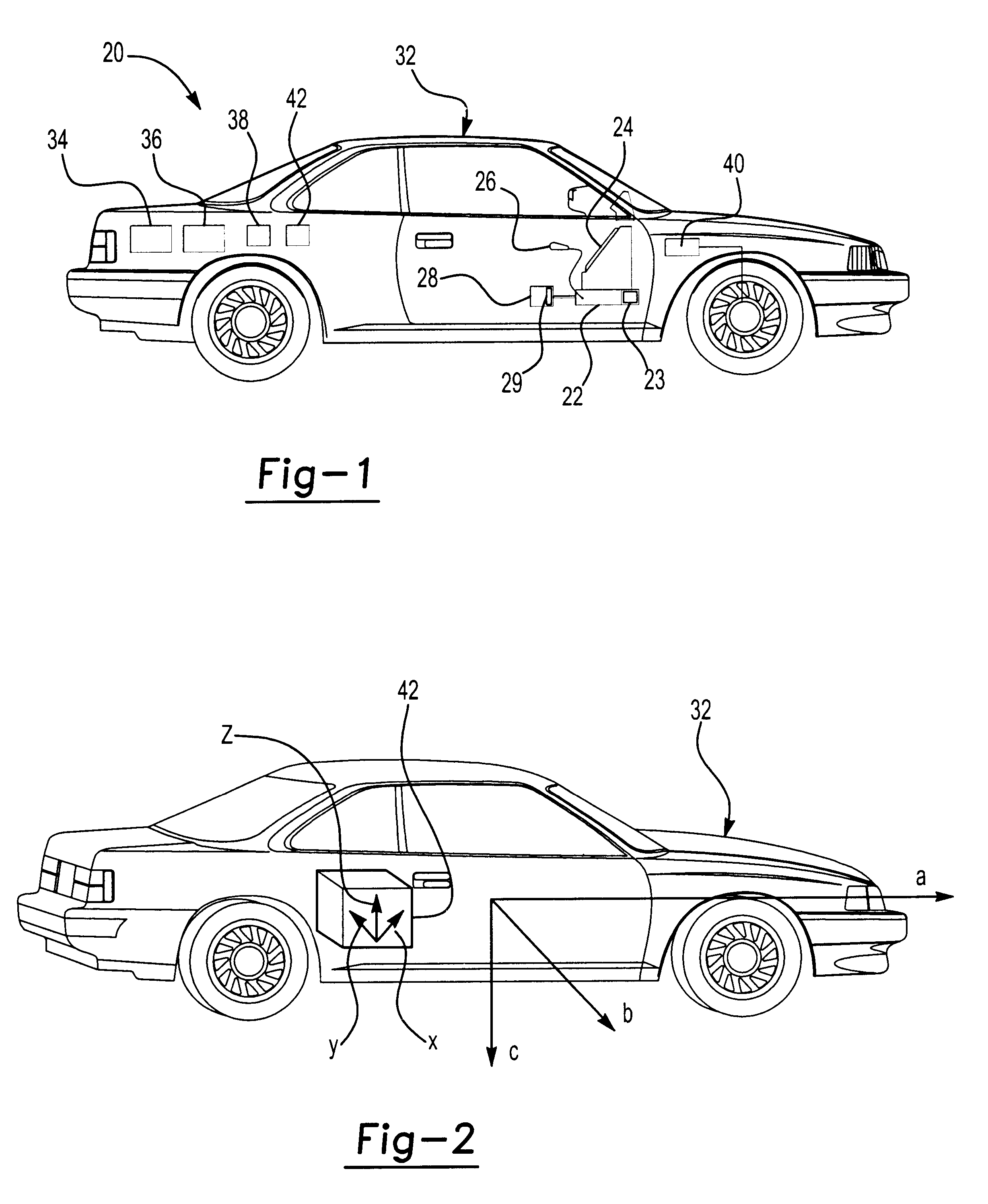 patent us6532419 - calibration of multi-axis accelerometer in vehicle navigation system