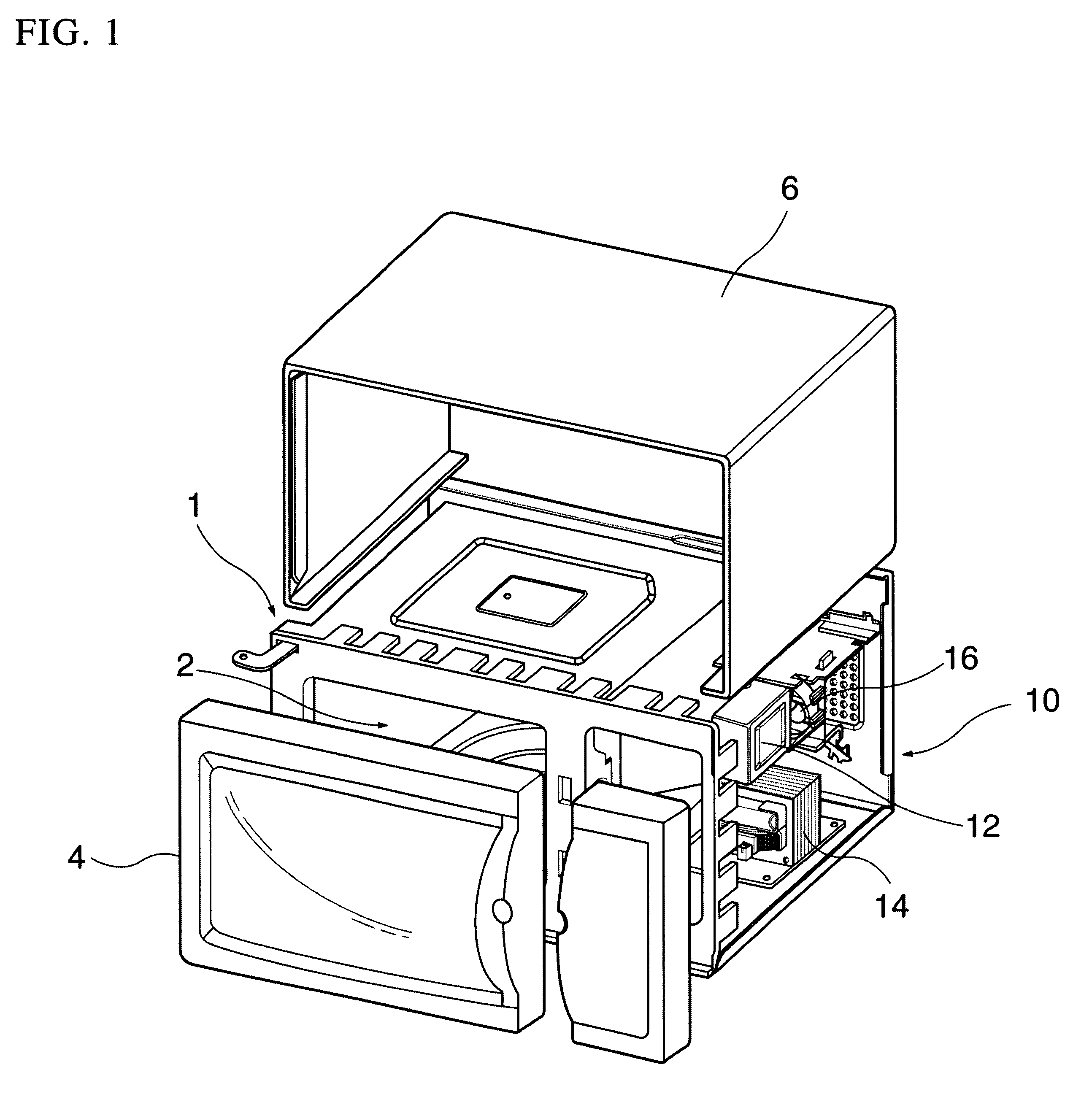 Patent Us6539840 Microwave Oven Having A Toaster
