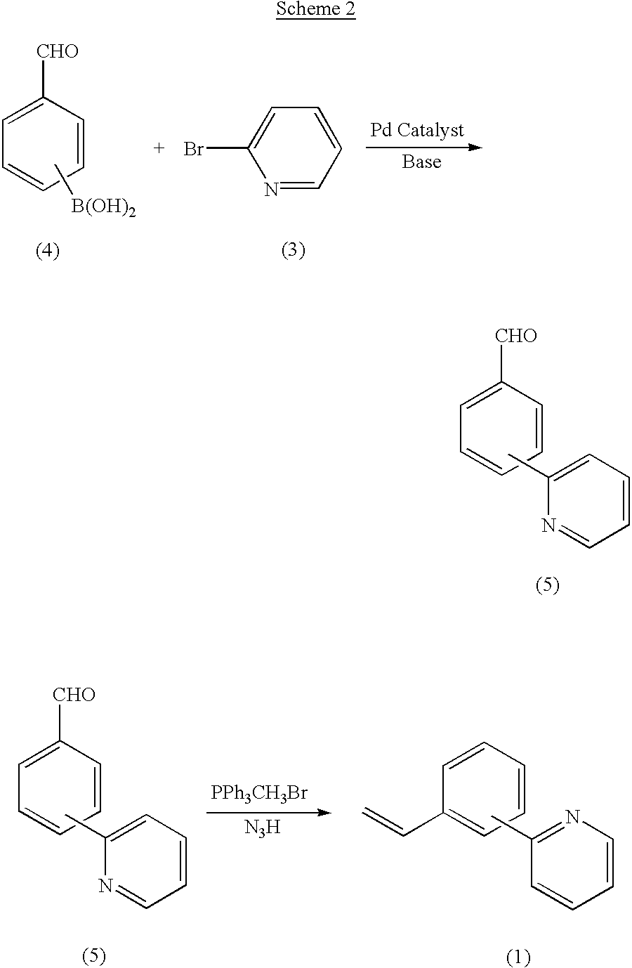 Us6545159b2 Vinyl Phenyl Pyridine Monomers And Polymers