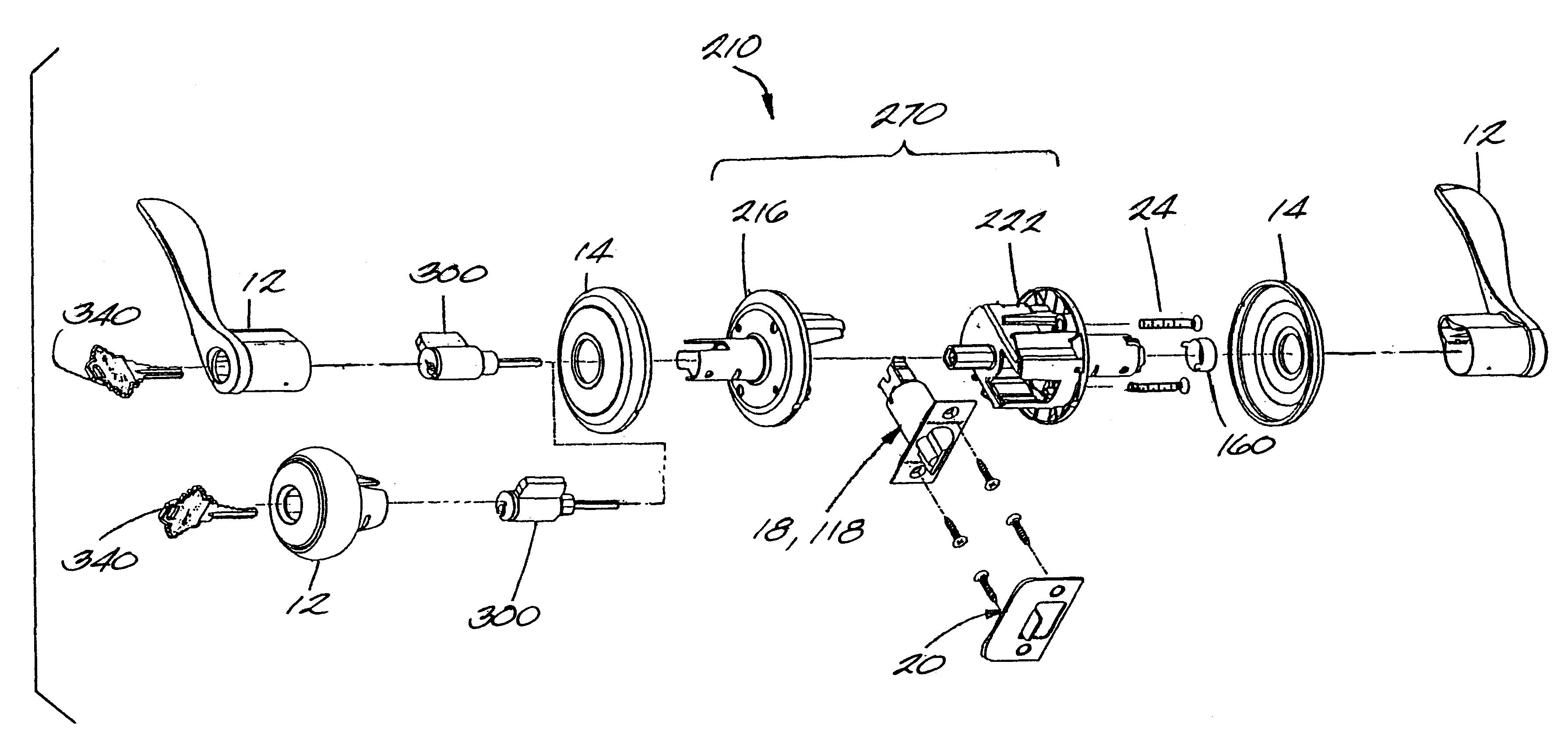 Patent Us6553799 Push Button Door Locking Mechanism