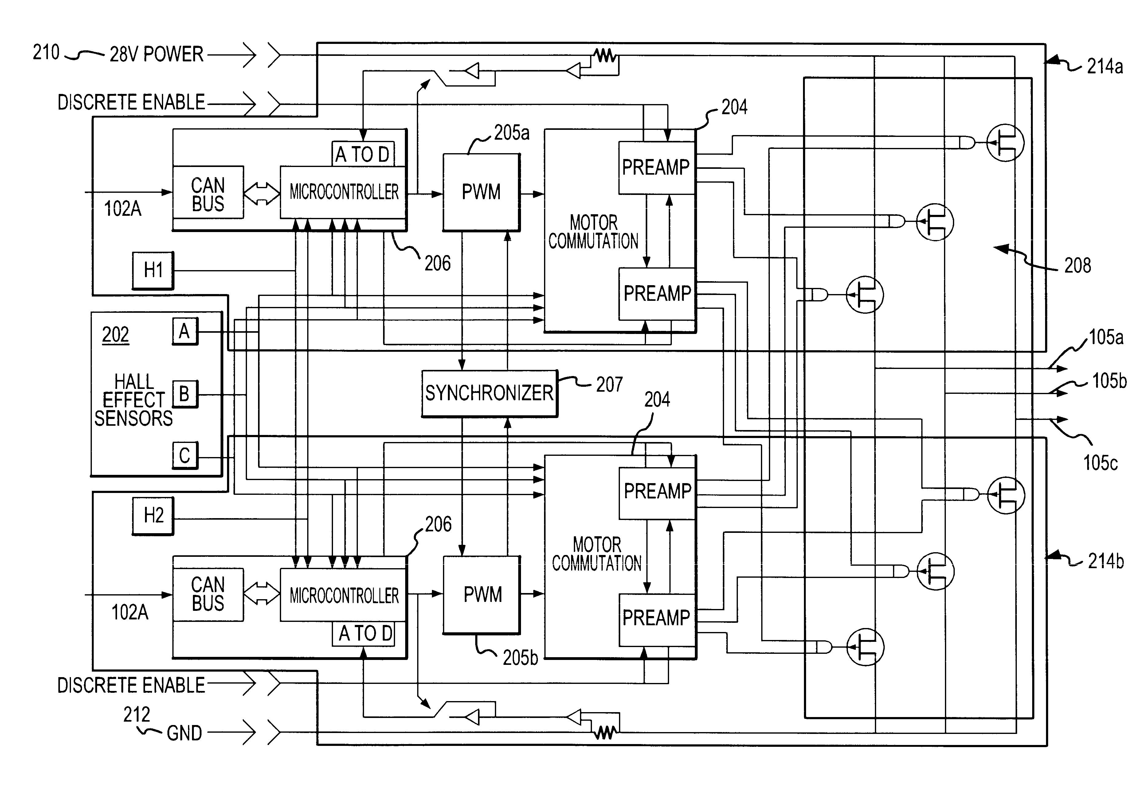 patent us6573672 - fail passive servo controller