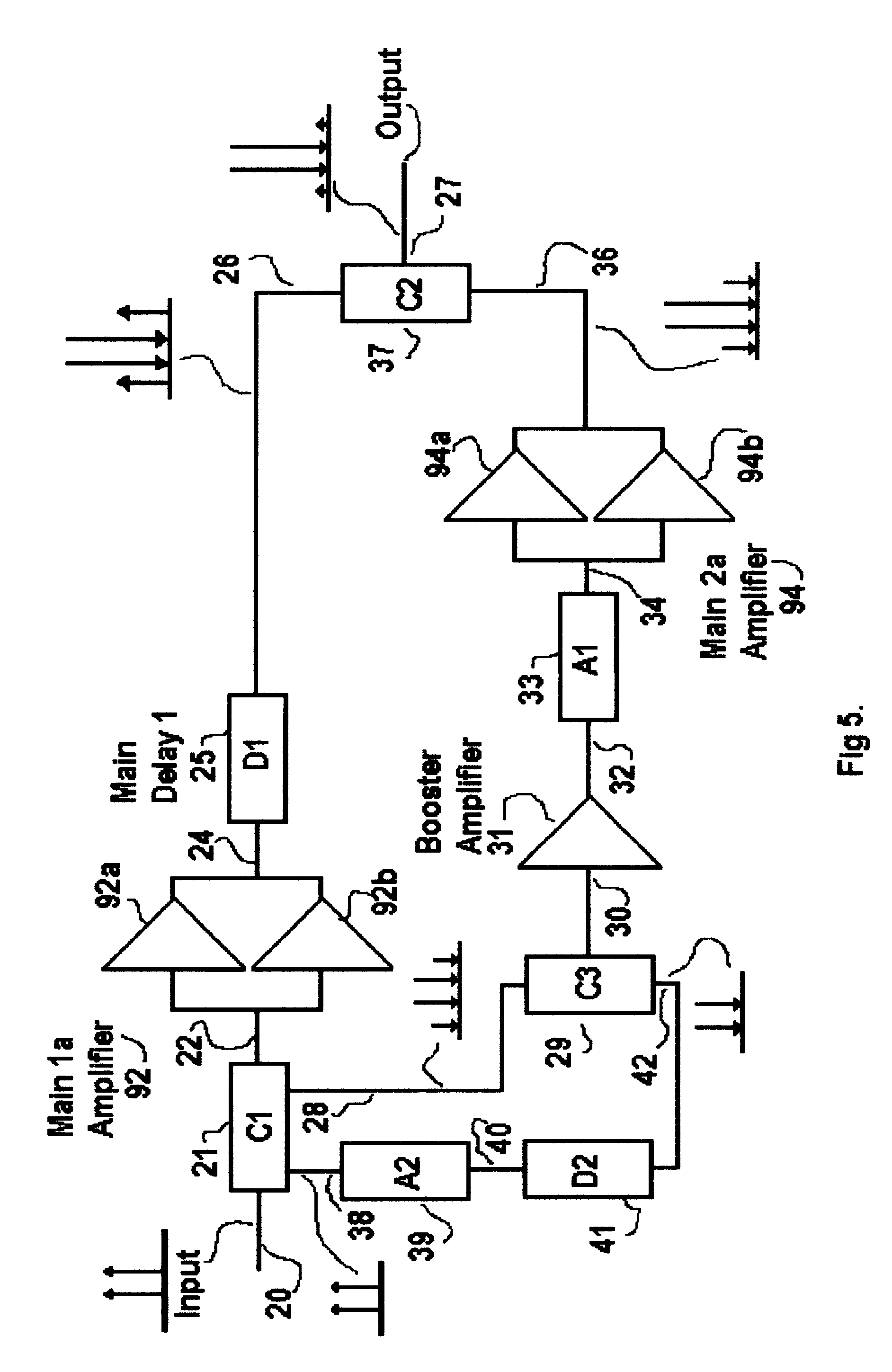 Patent Us6573793 Reflect Forward Adaptive Linearizer Amplifier Booster Schematic Diagram Drawing