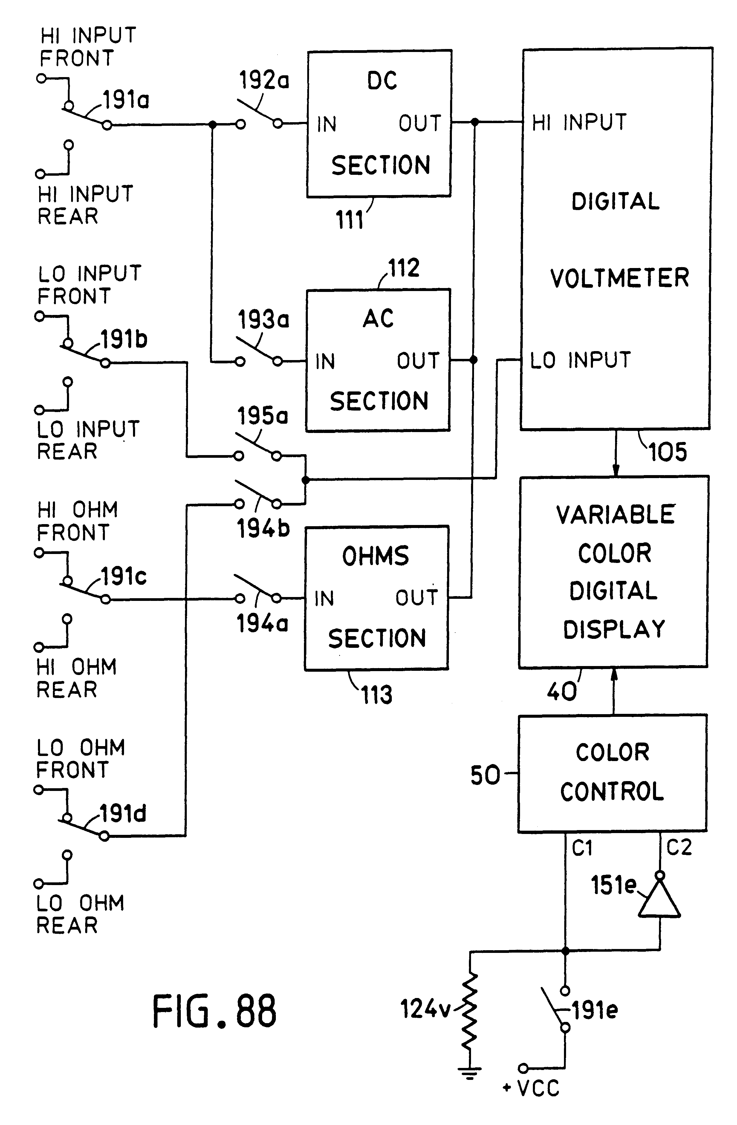 Patent US6577287 - Dual Variable Color Display Device - Google Patents