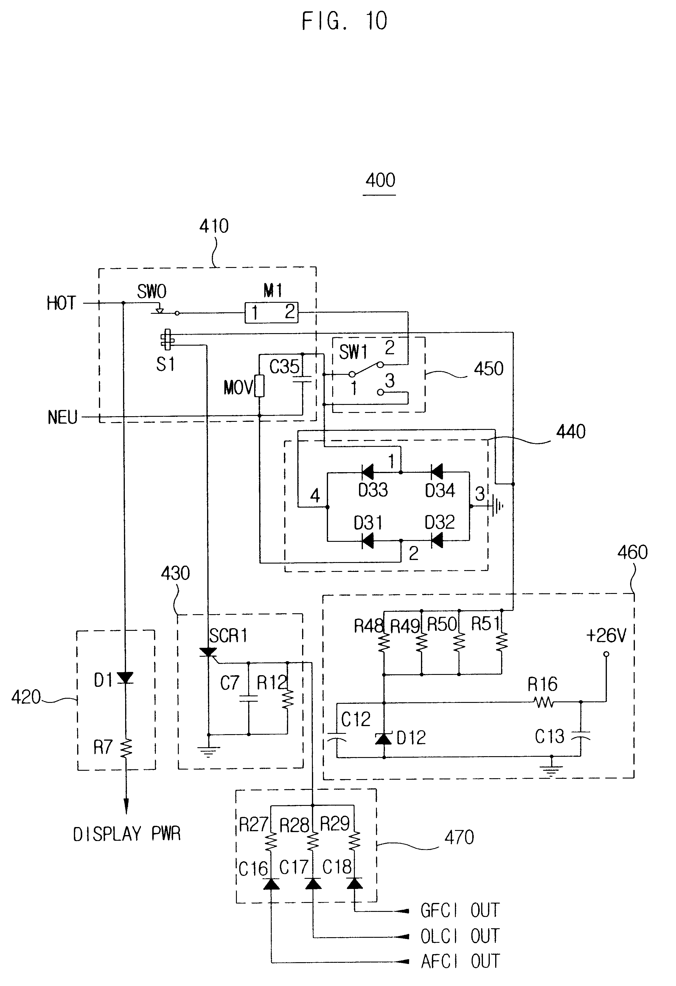 Patent Us6577478 Overload Circuit Interrupter Capable Of Breaking The Breakerthe Testing Afci Circuits Drawing