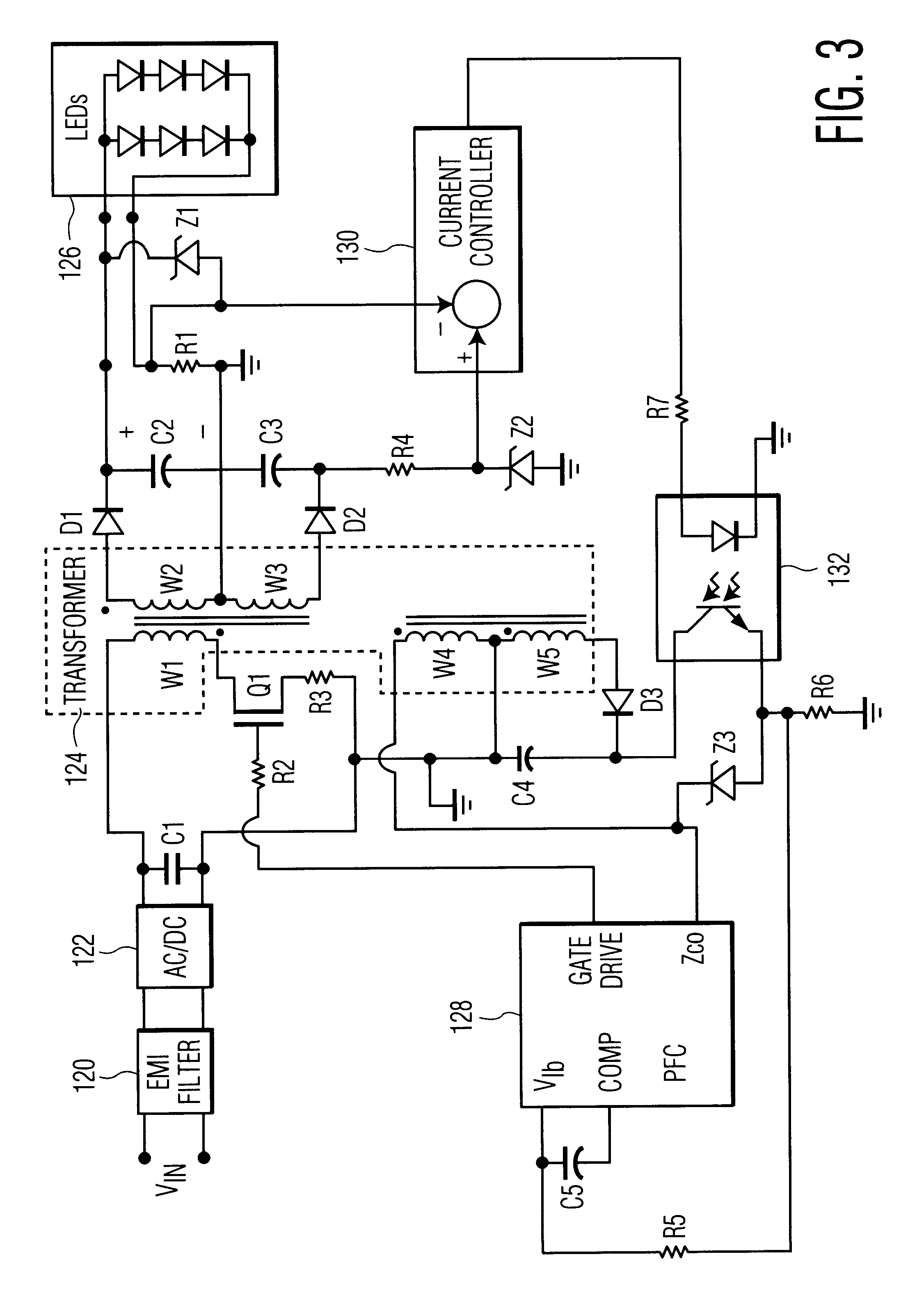 patent us6577512 - power supply for leds