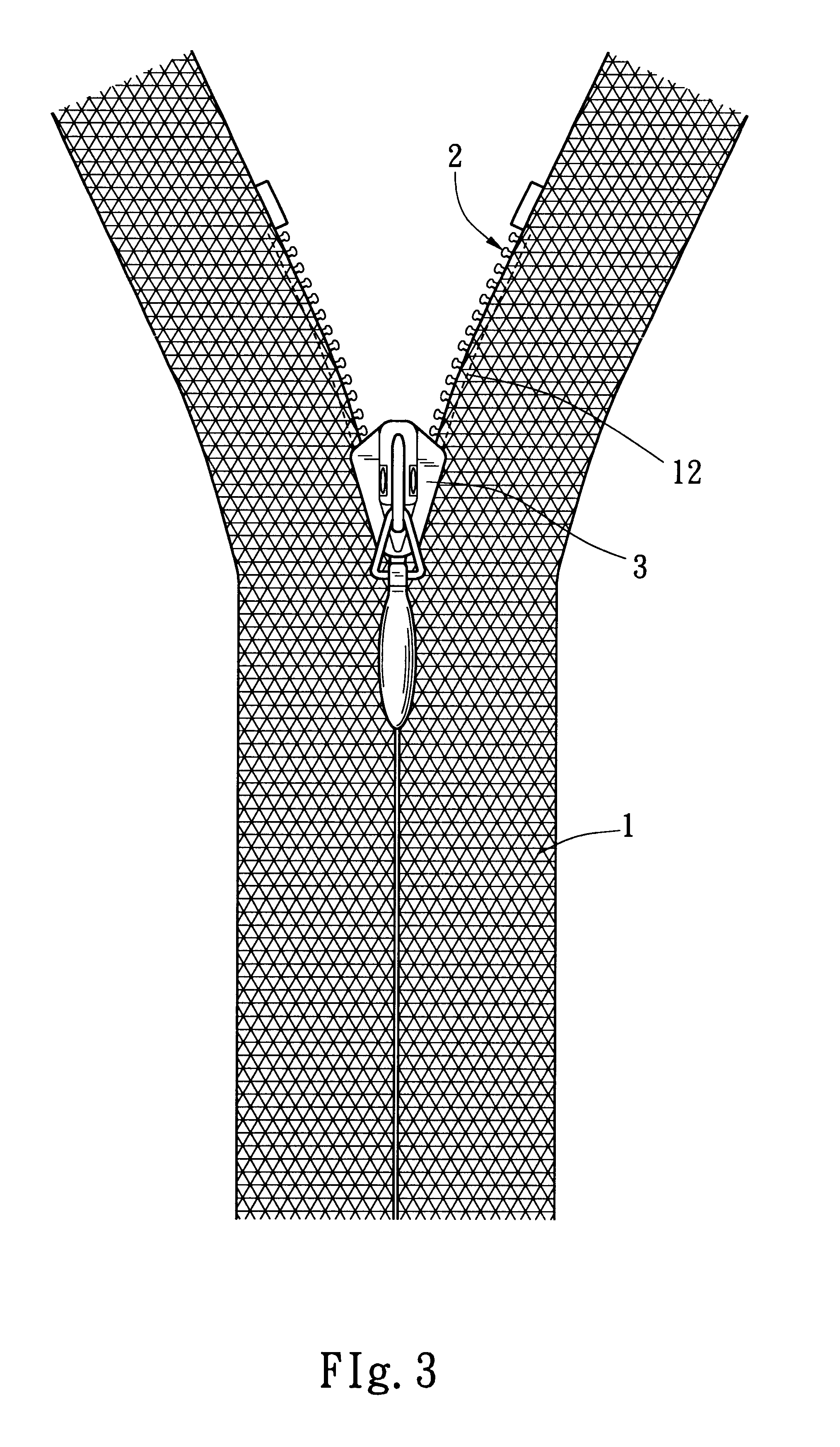 D Line Drawings Zip File : Patent us string core free invisible zipper
