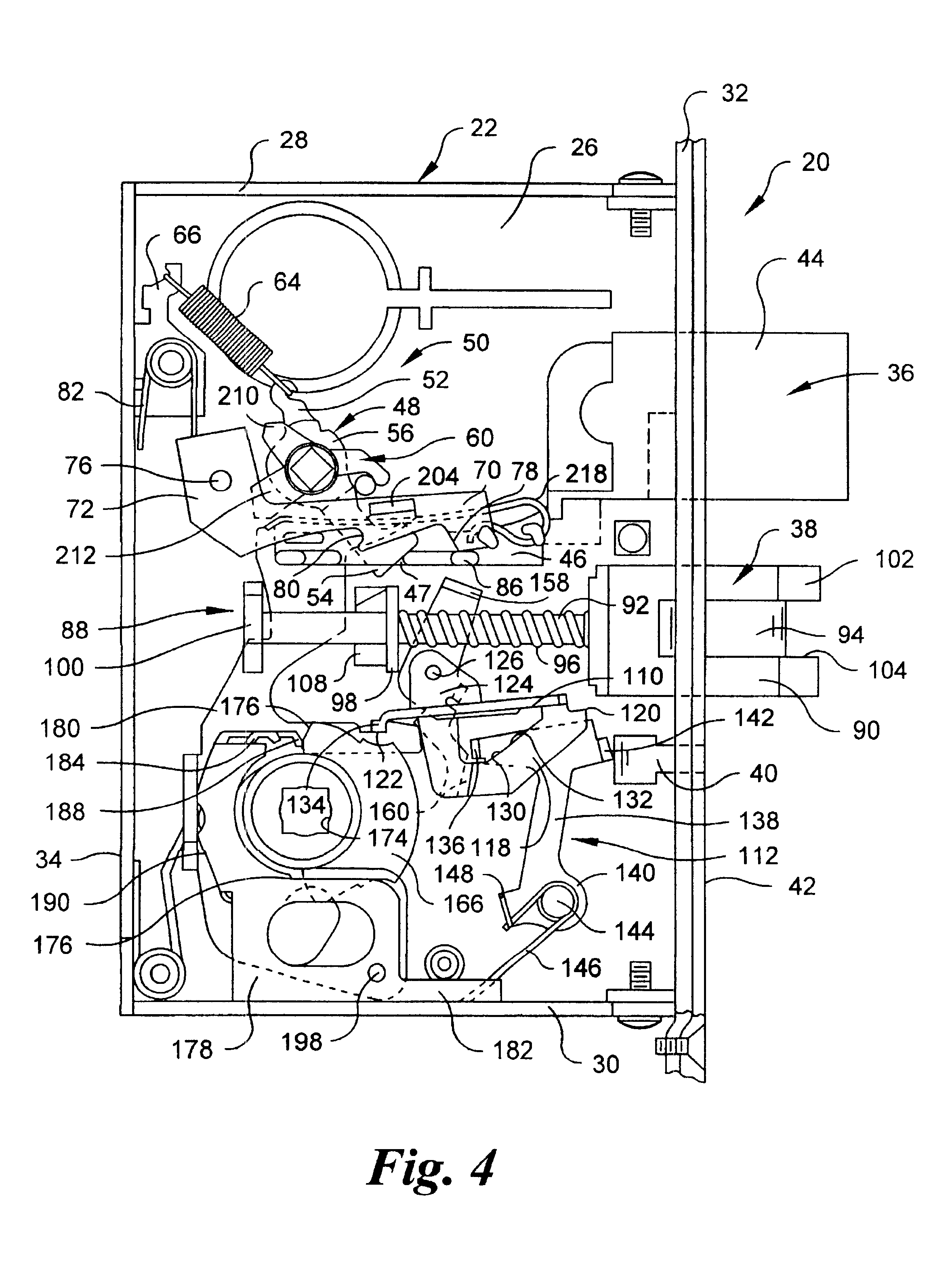 Patent Us6578888 Mortise Lock With Automatic Deadbolt