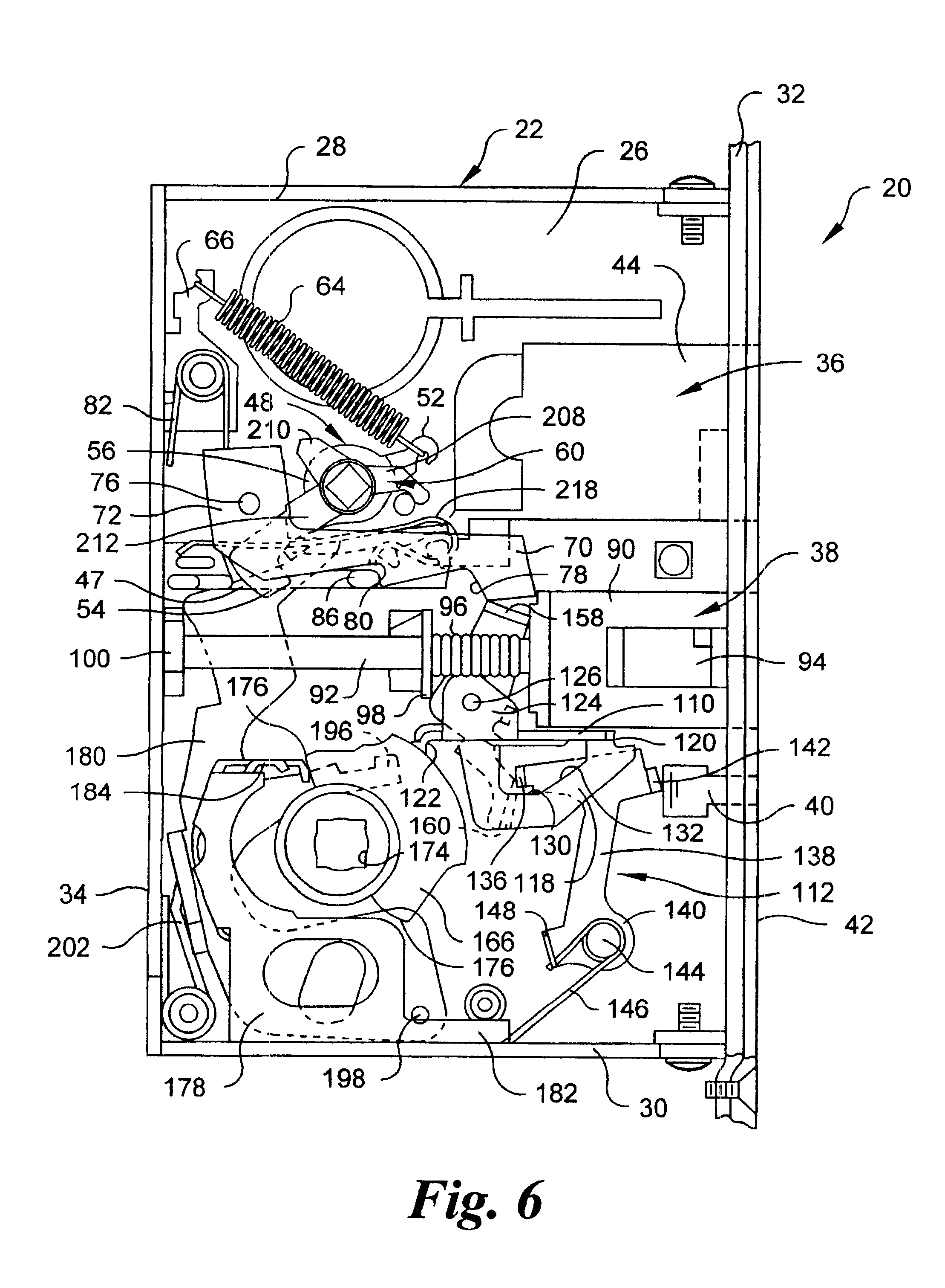 patent us6578888 - mortise lock with automatic deadbolt