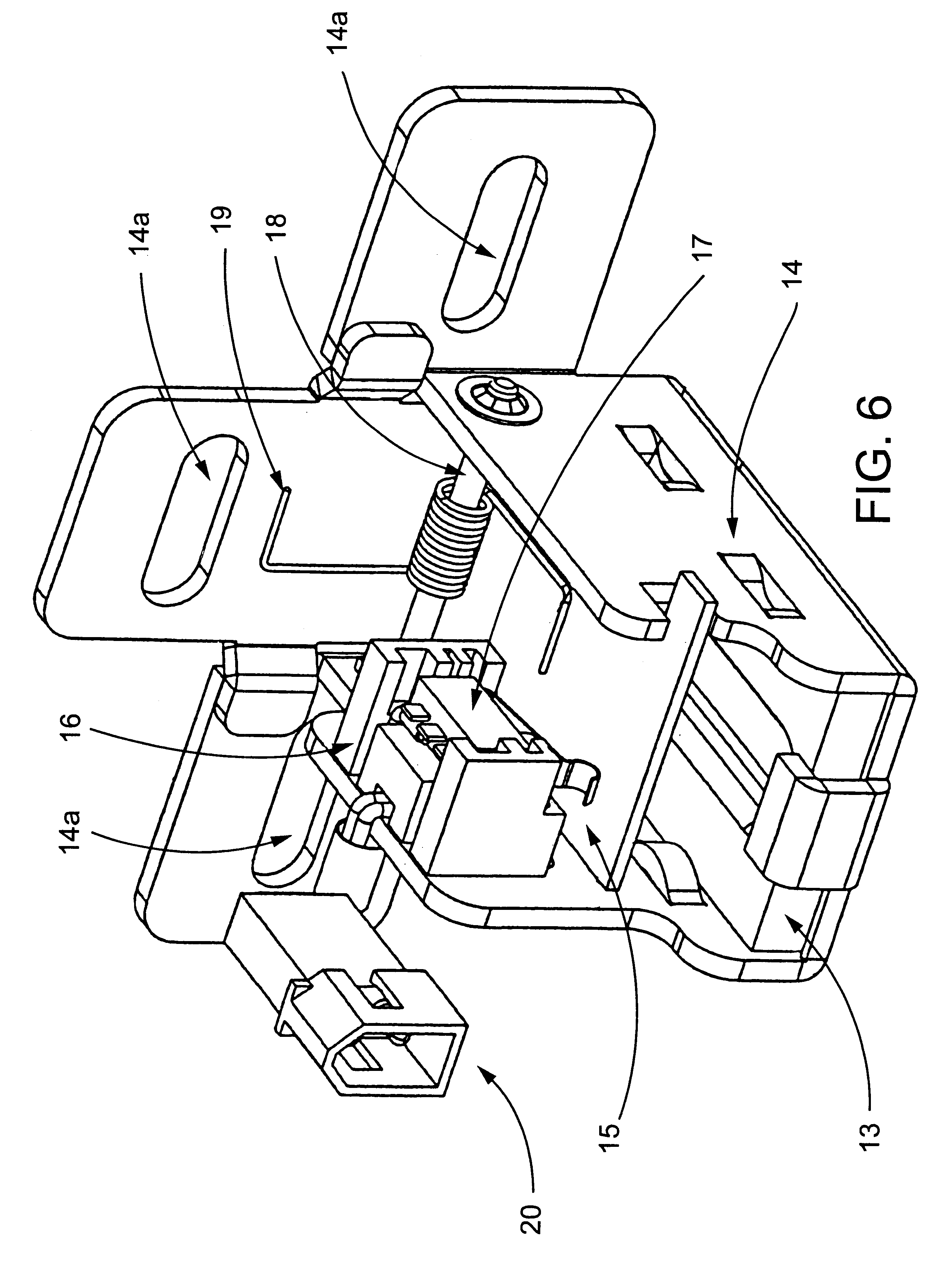 patent us6581986 - bayonet locking system and method for vending machines and the like