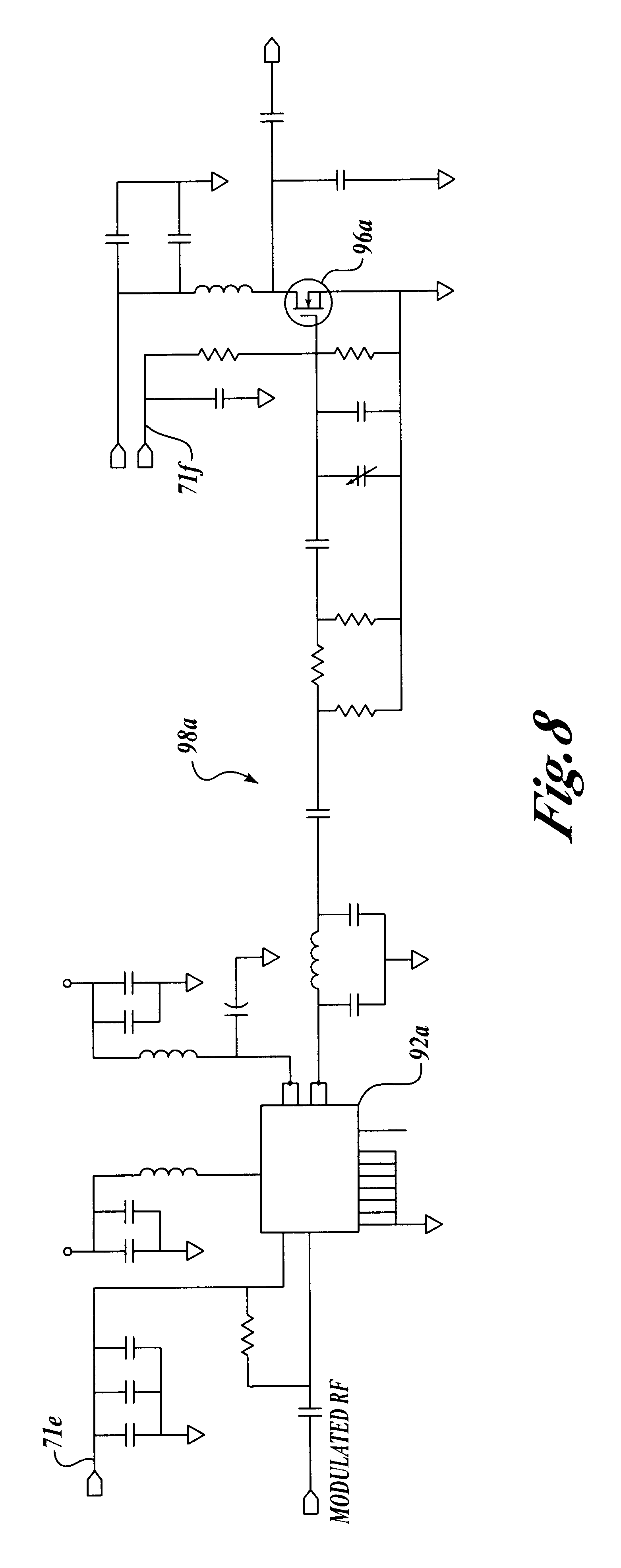 Patent Us6587069 Distributed Power Amplifier Architecture For Tcas Diagram Additionally Rf Modulator Circuit Besides Lifier Drawing