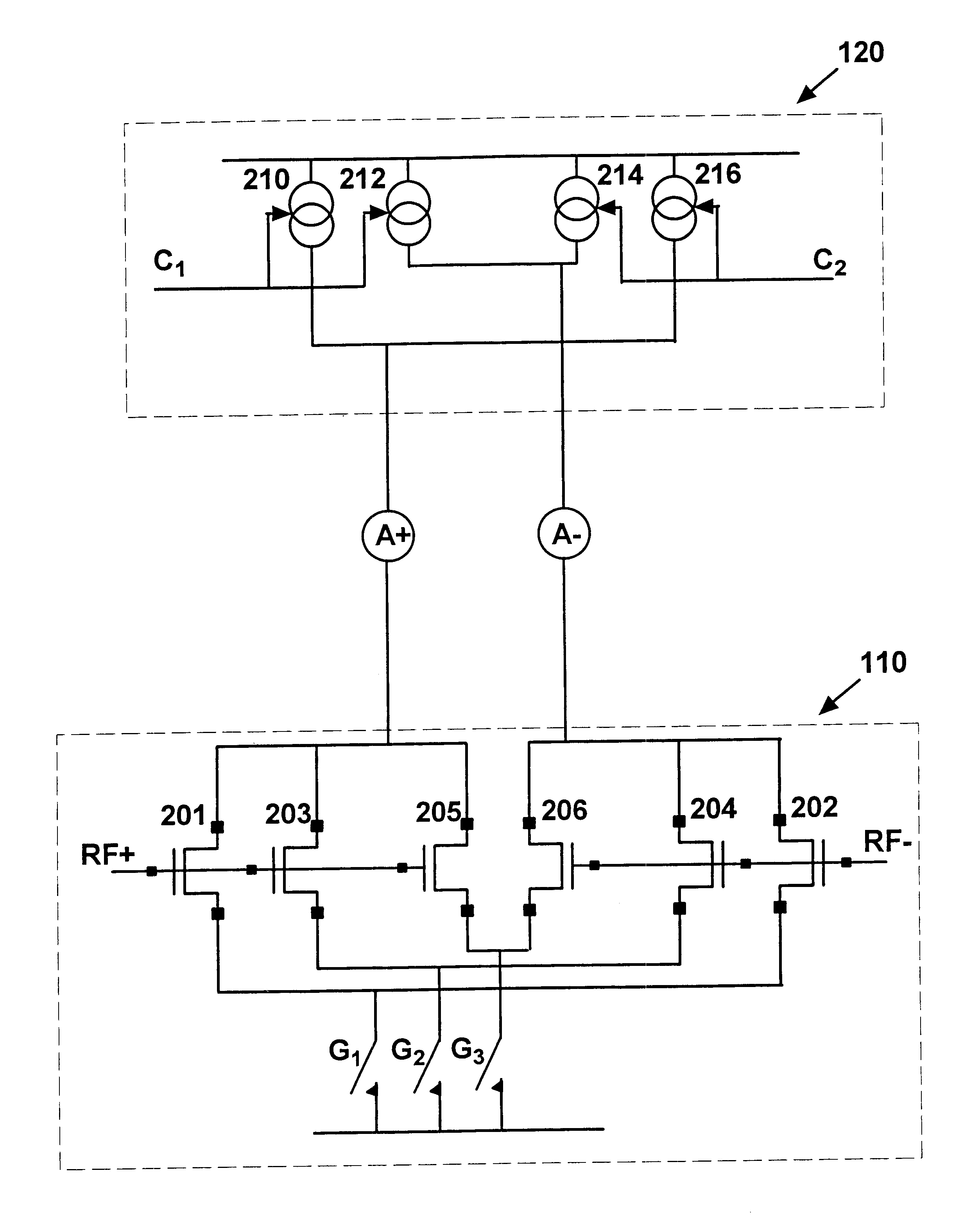 Patent Us6590438 Integrated Circuit Adjustable Rf Mixer Google Buffer Stage Drawing