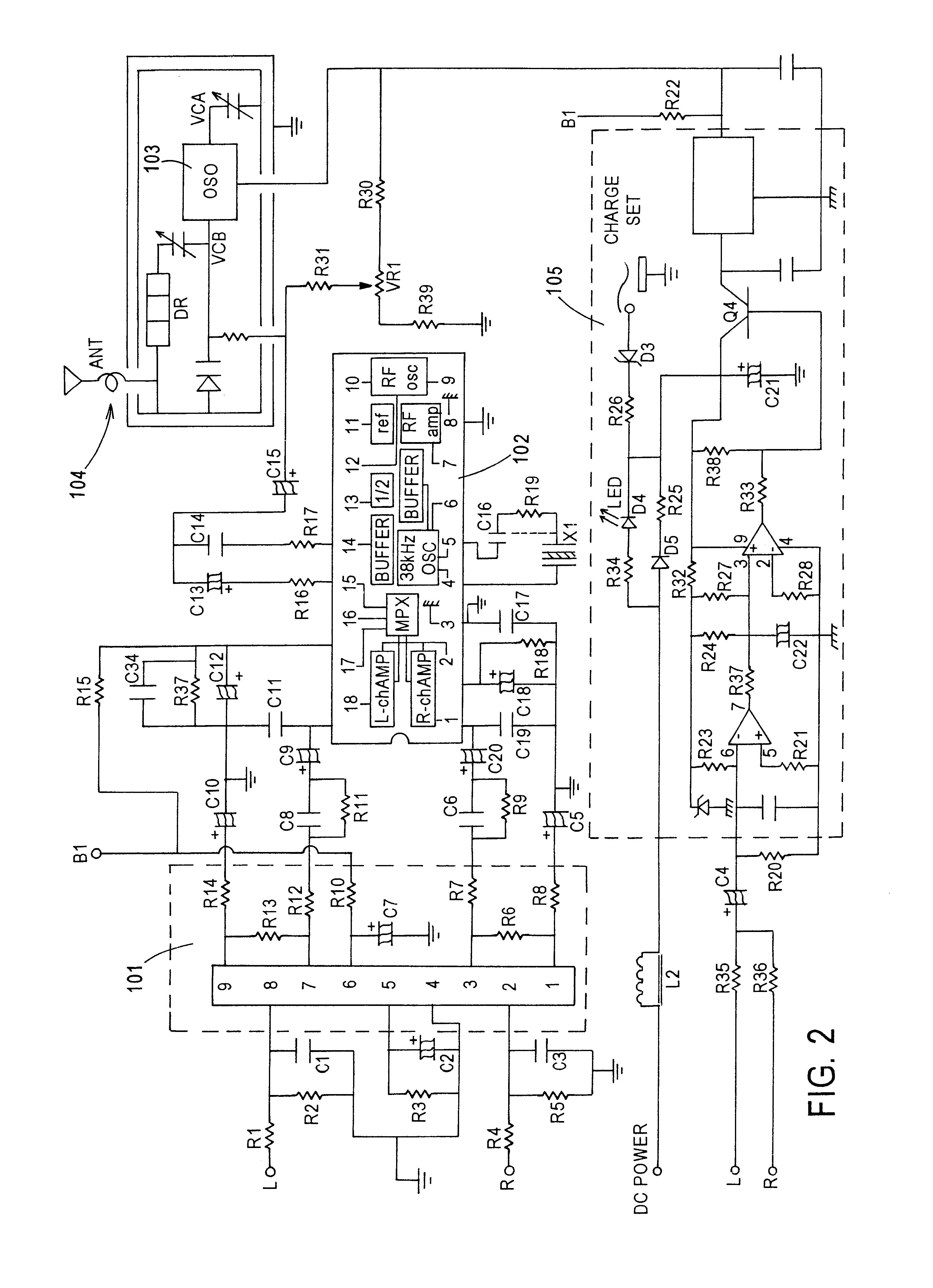 Patent Us6590982 Wireless Stereo Center Speaker System Google Circuit Furthermore Long Range Fm Transmitter Diagram On Ir Drawing