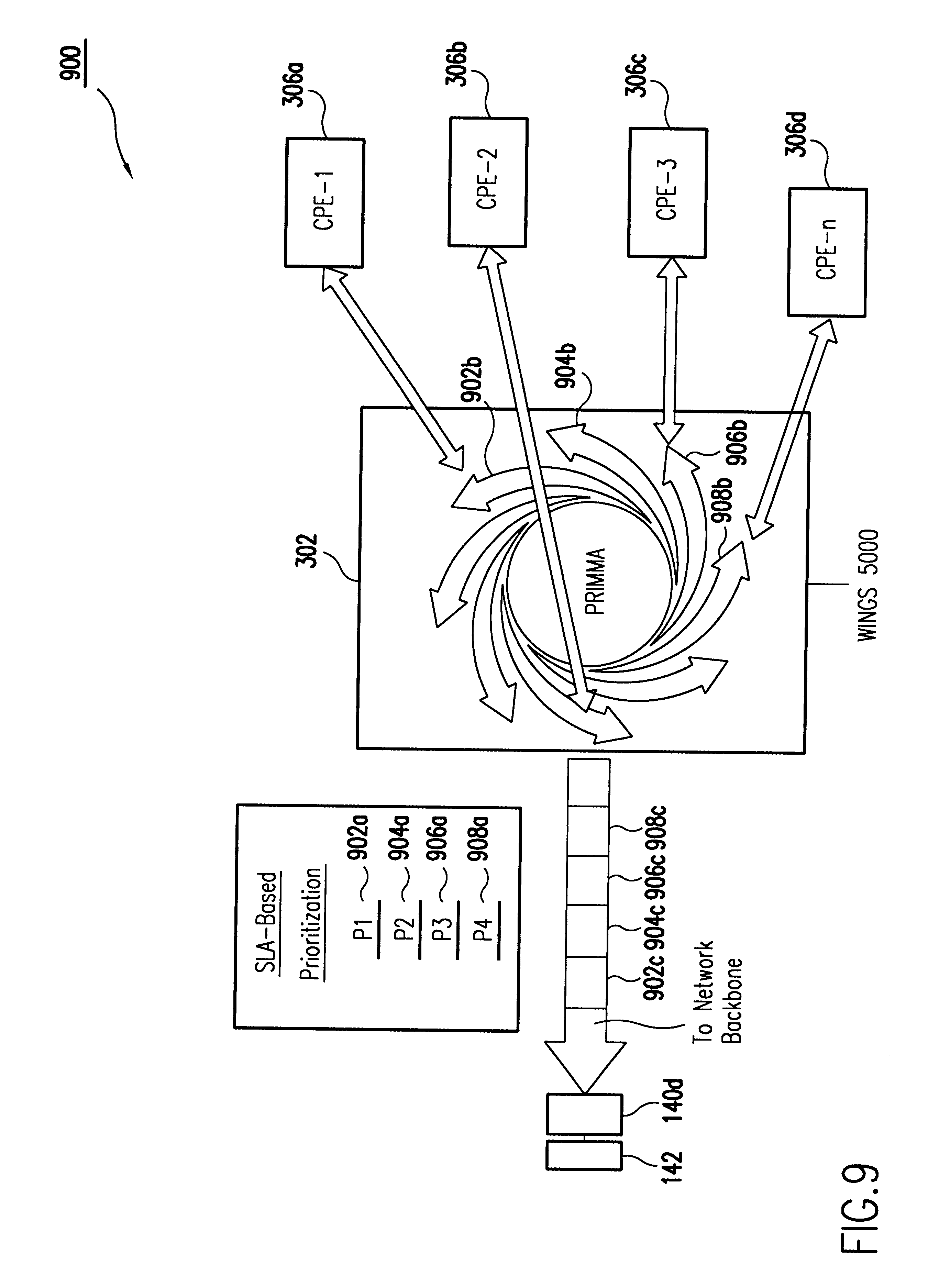Patent Us6594246 Ip Flow Identification In A Wireless Point To Kawasaki Kmx 125 Wiring Diagram Drawing