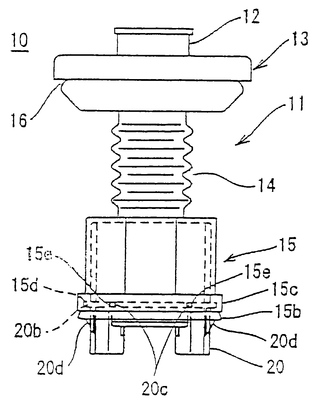 patent us6600104 grommet with resin inner sleeve and method of Sumitomo Connectors 2Wire patent drawing