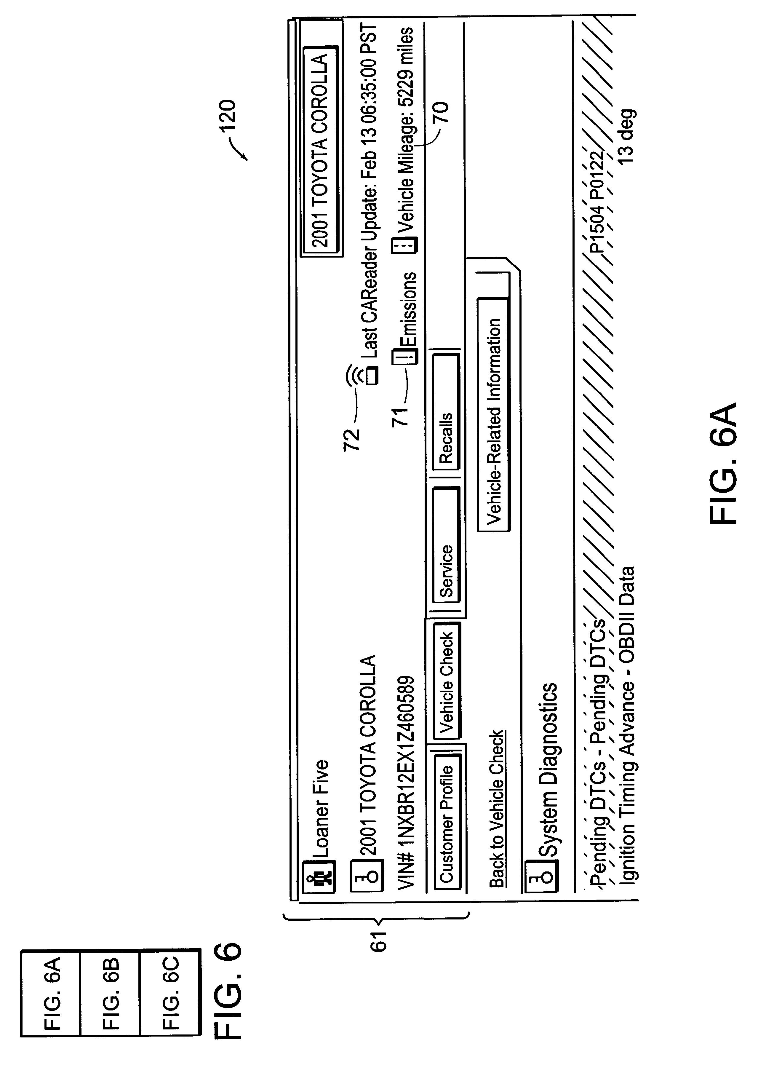 Patente US Internetbased Vehiclediagnostic System - Car signs on dashboardrobert jacek google