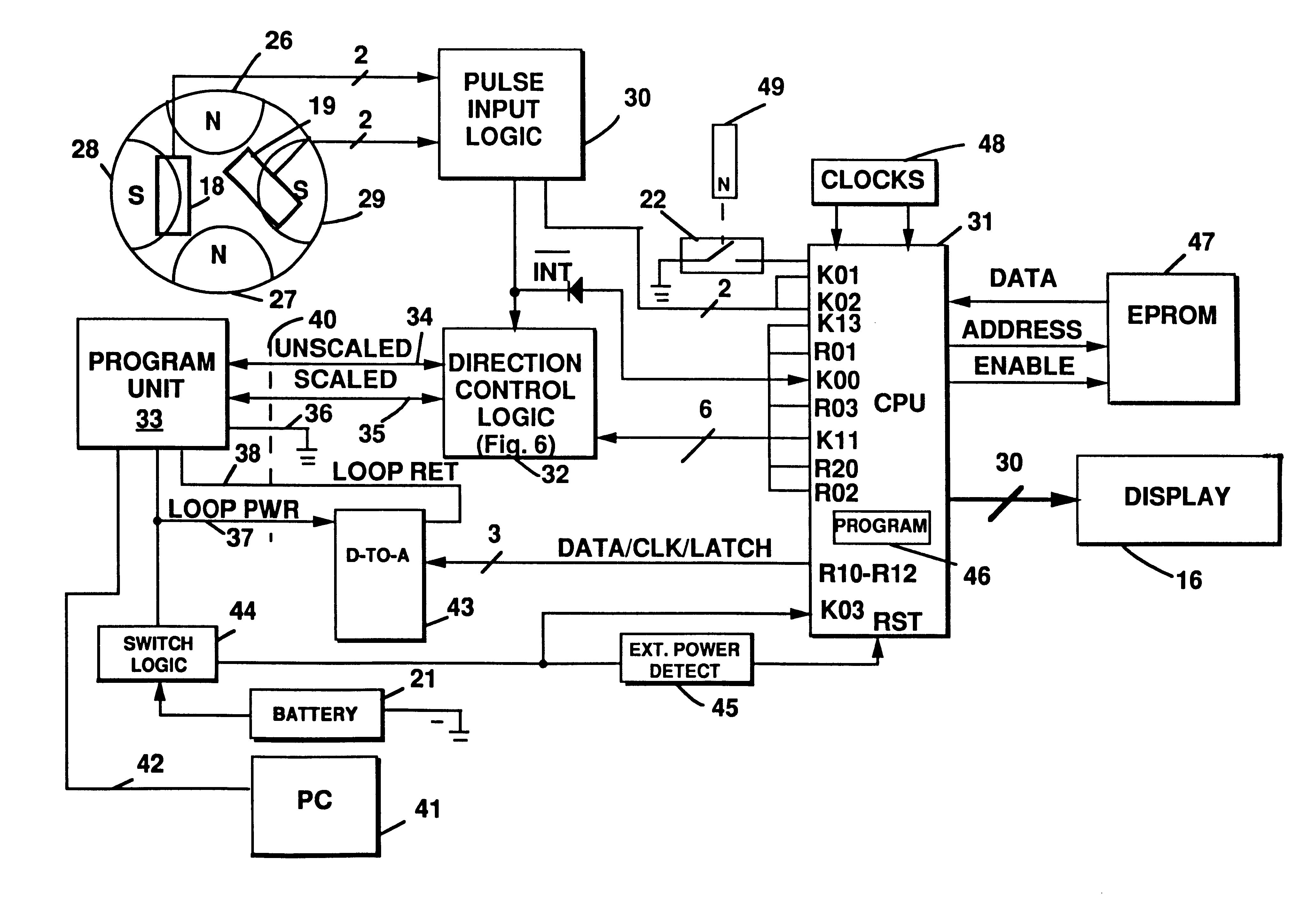 US06611769 20030826 D00000 patent us6611769 meter register with programming  and data port badger water meter wiring