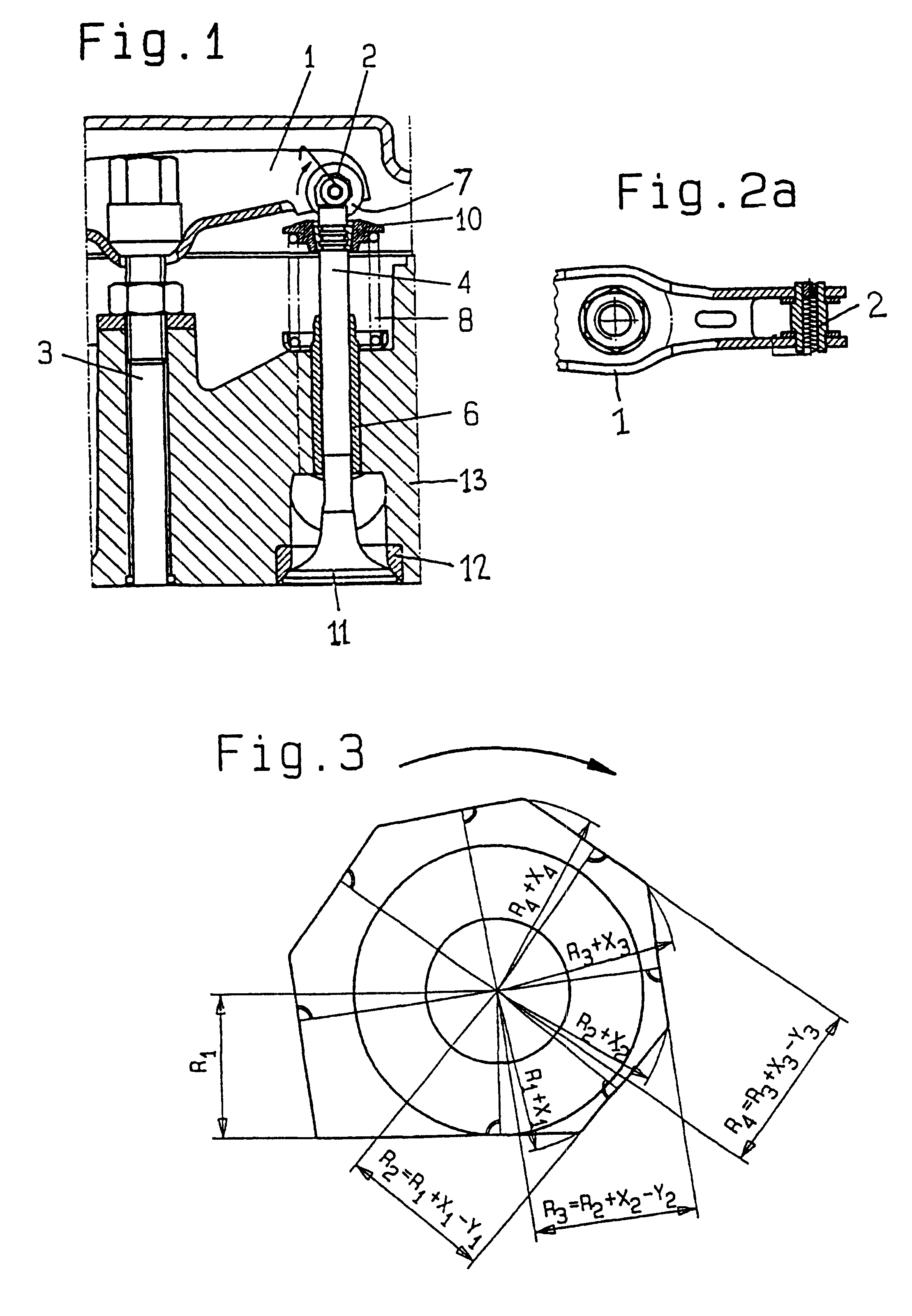 Combustion Engine Lever : Patent us rocker lever for valve operation of an