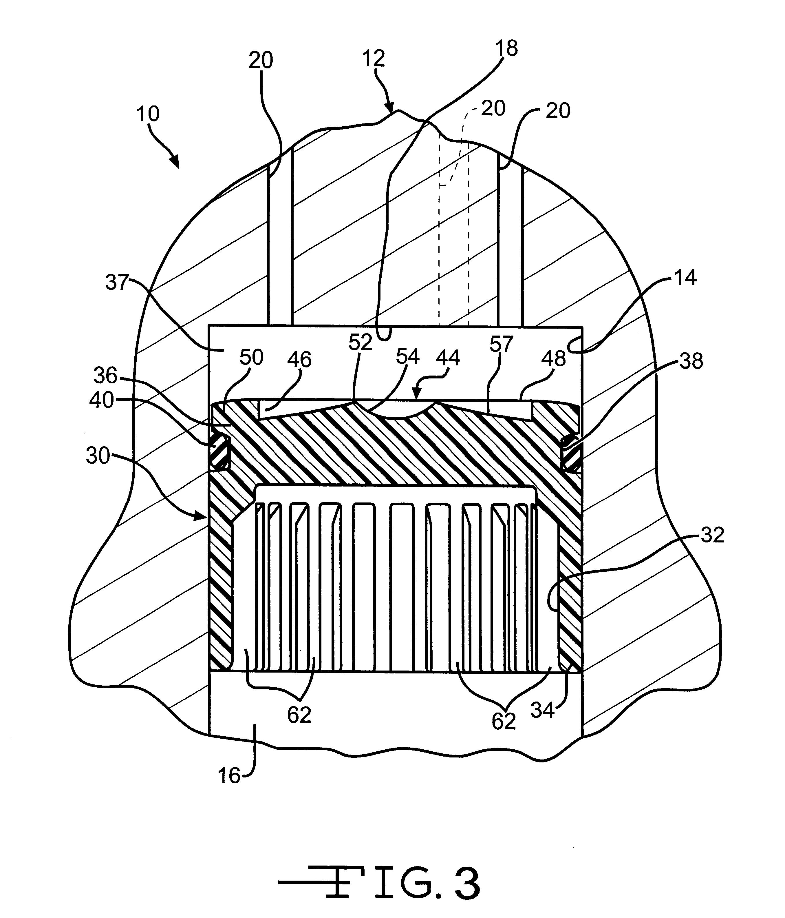 Patent US6612339 - Piston with fluid sealing ridges - Google