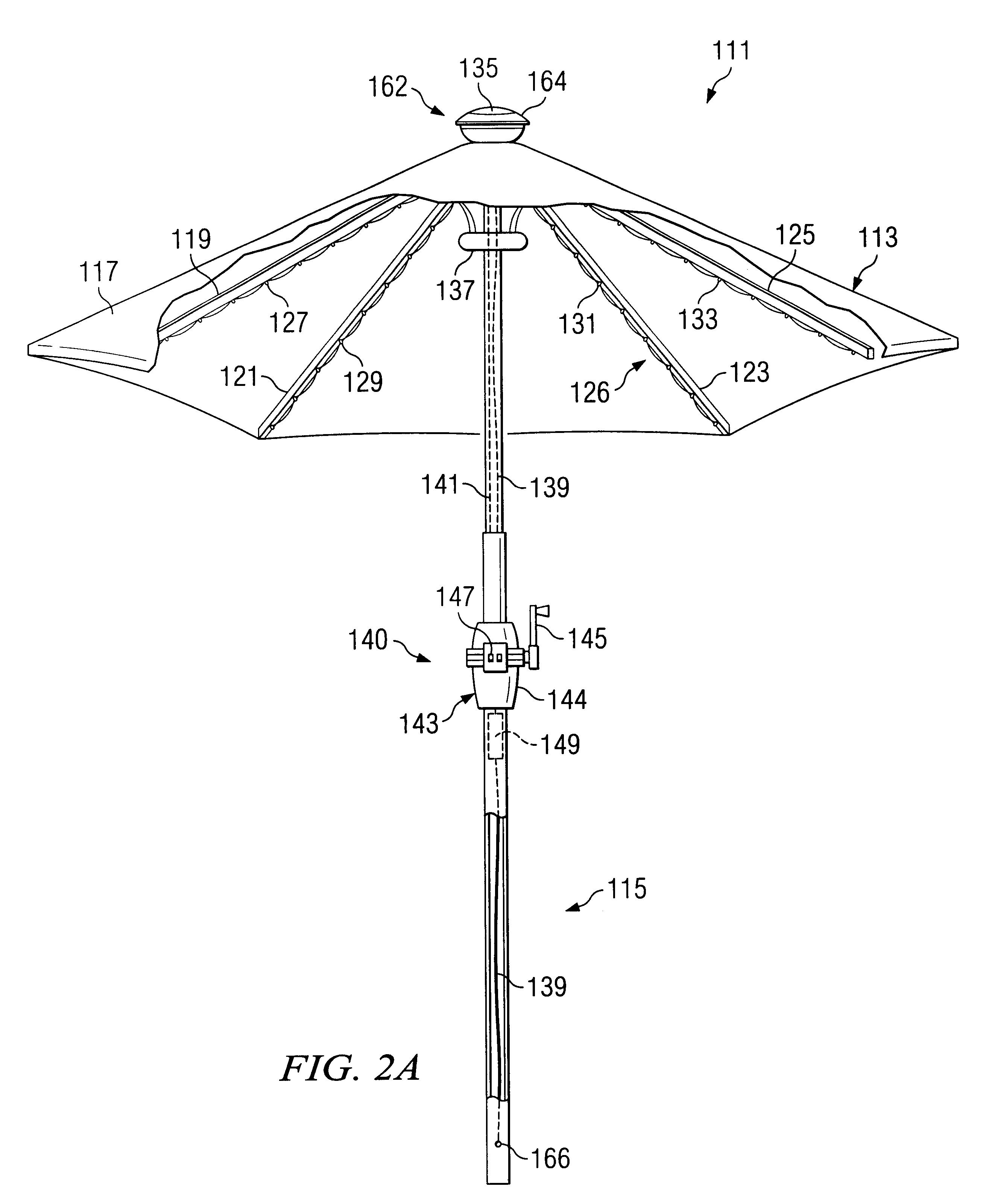 patent us6612713 - umbrella apparatus