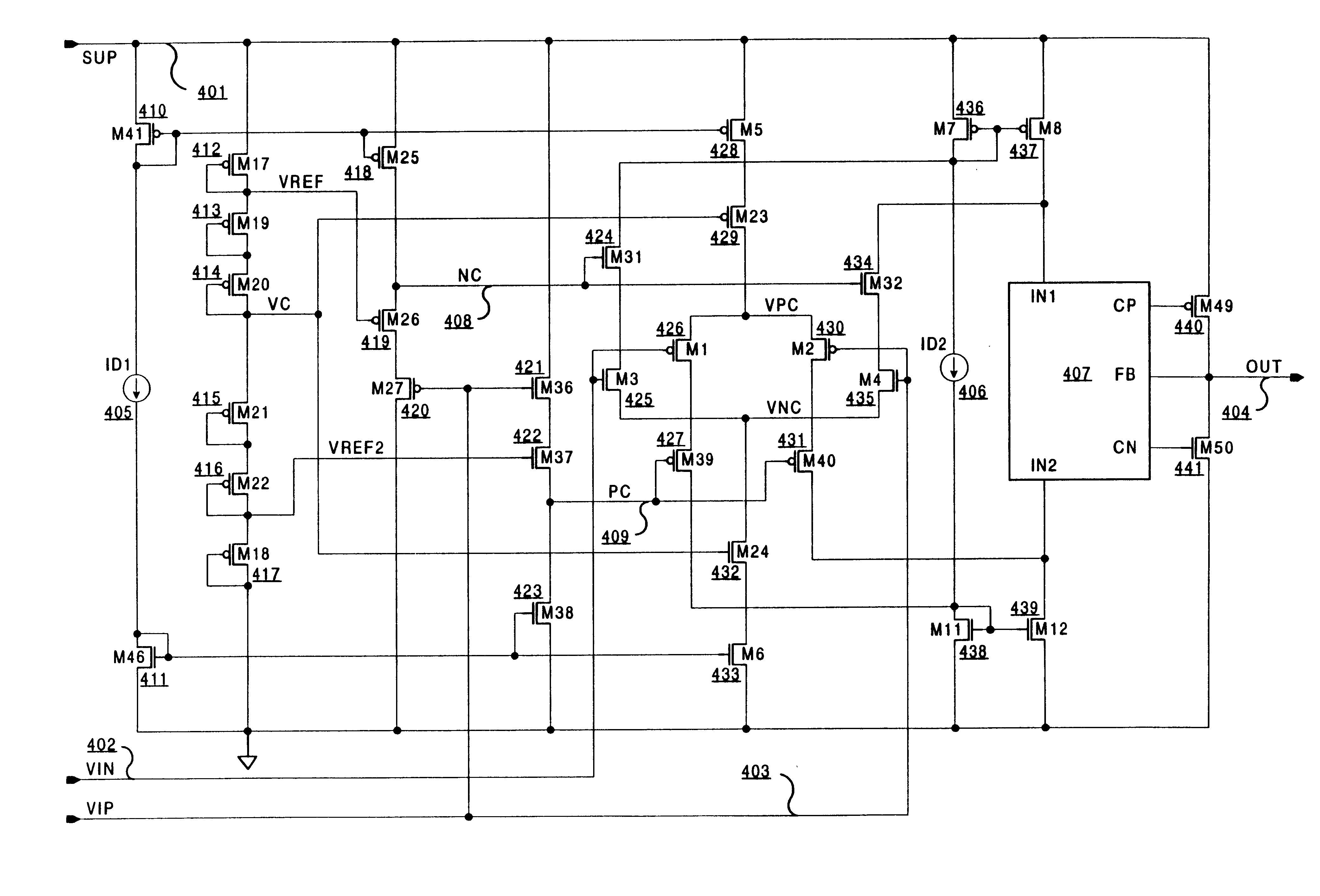 Patent Us6621342 Dynamic Cascoding Technique For Operational Types Of Op Amp Circuits Drawing