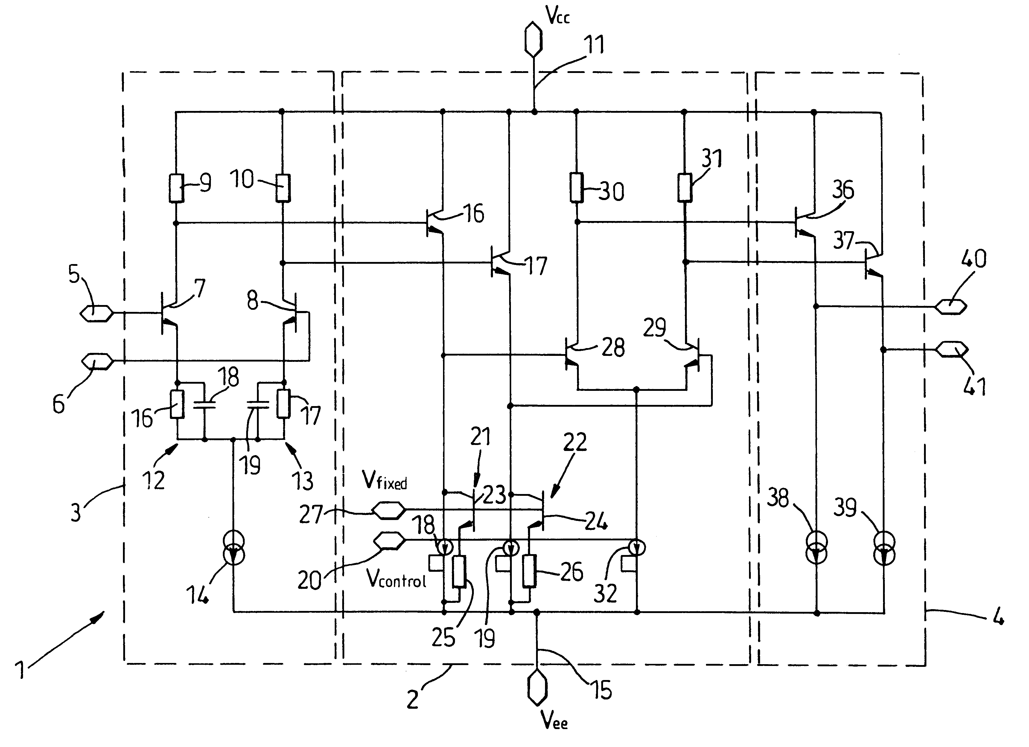 patent us6621344 - variable gain amplifier stage