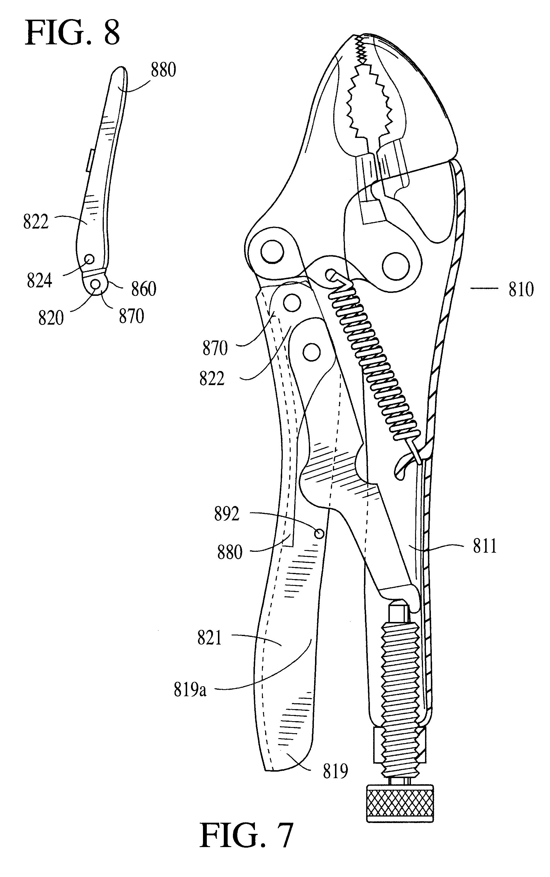 Patent Us6626070 Compound Toggle Link Retention
