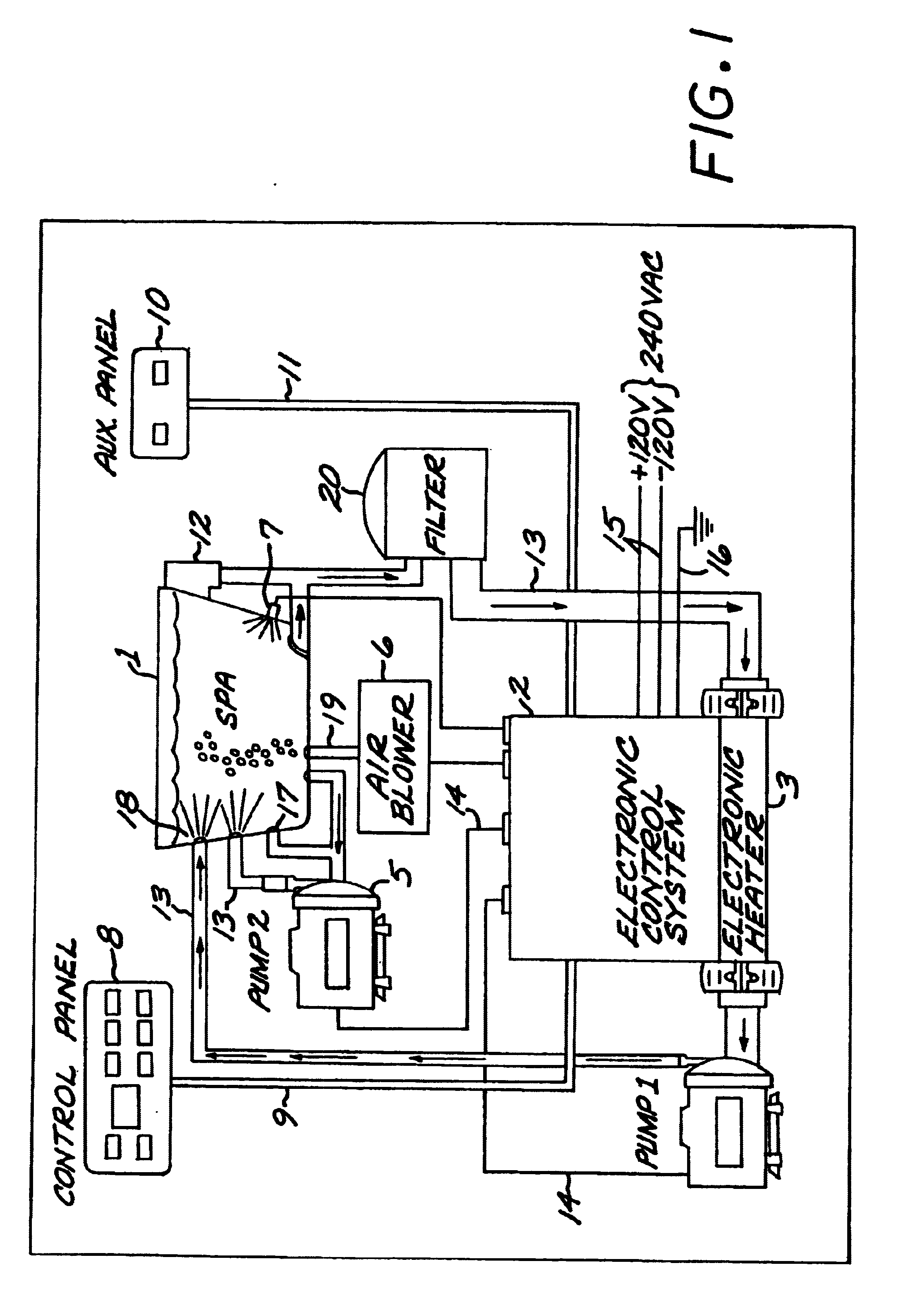 patent us6629021 - techniques for detecting ground failures in bathing installations - google ... 4001e control panel wiring diagram nexys control panel wiring diagram